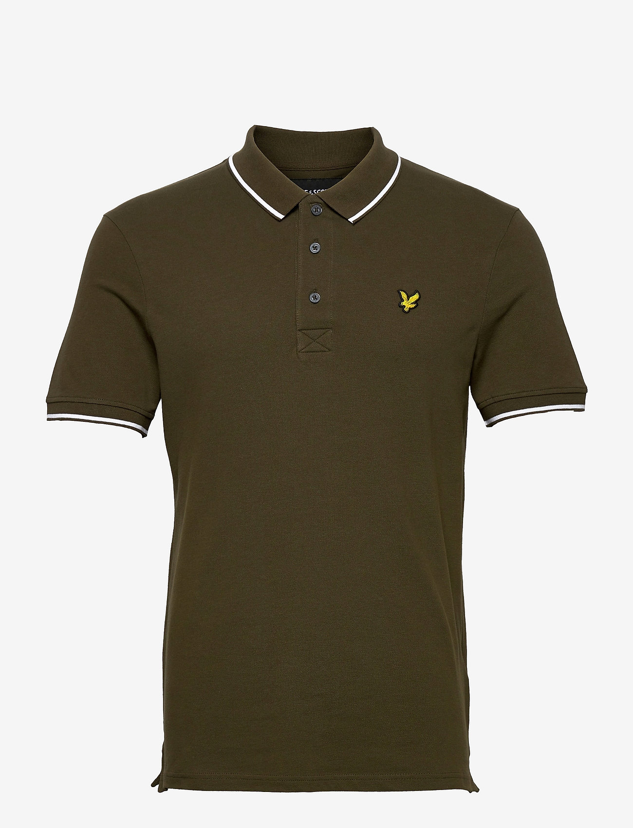 Lyle & Scott - Tipped Polo Shirt - poloshirts - olive/ white - 0