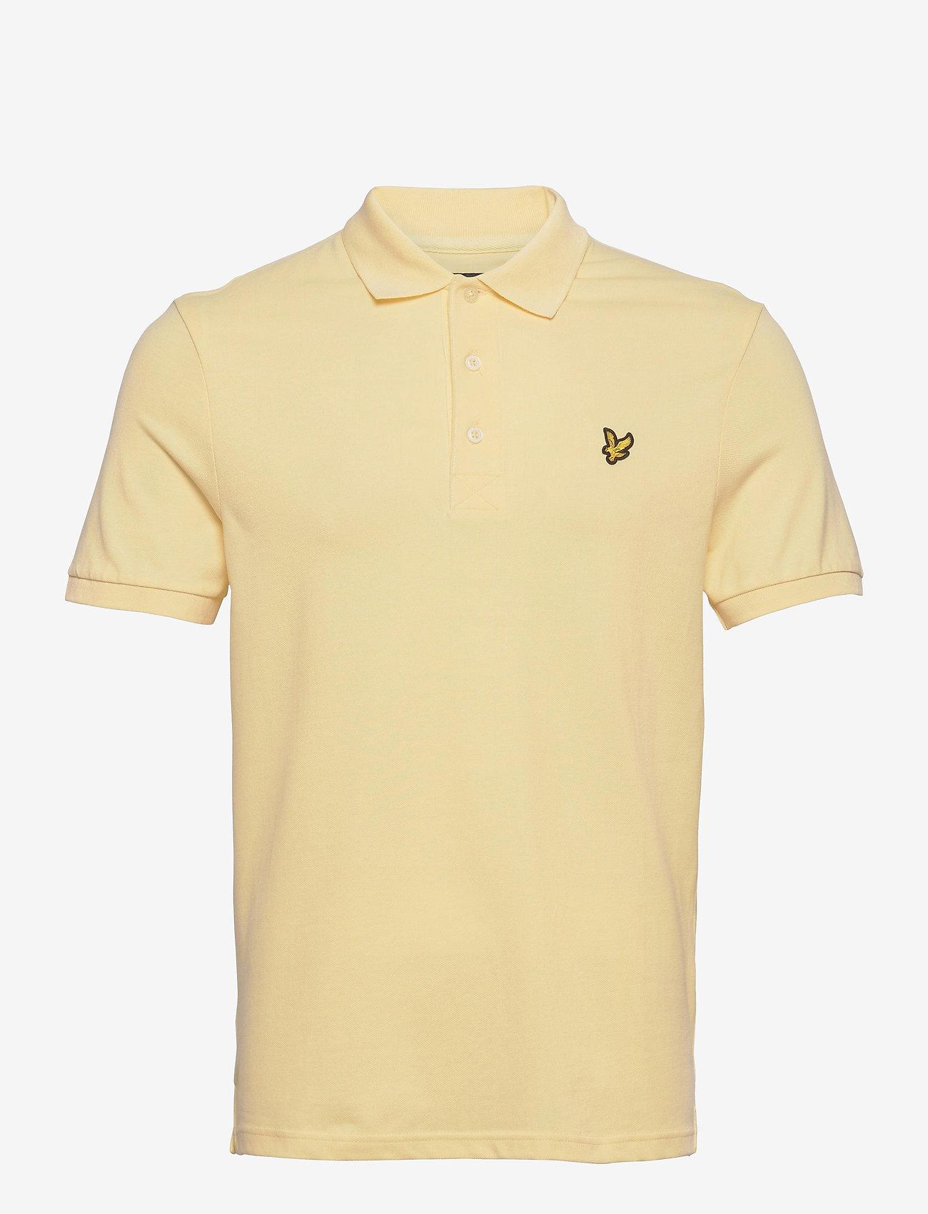 Lyle & Scott - Plain Polo Shirt - polos à manches courtes - lemon - 0
