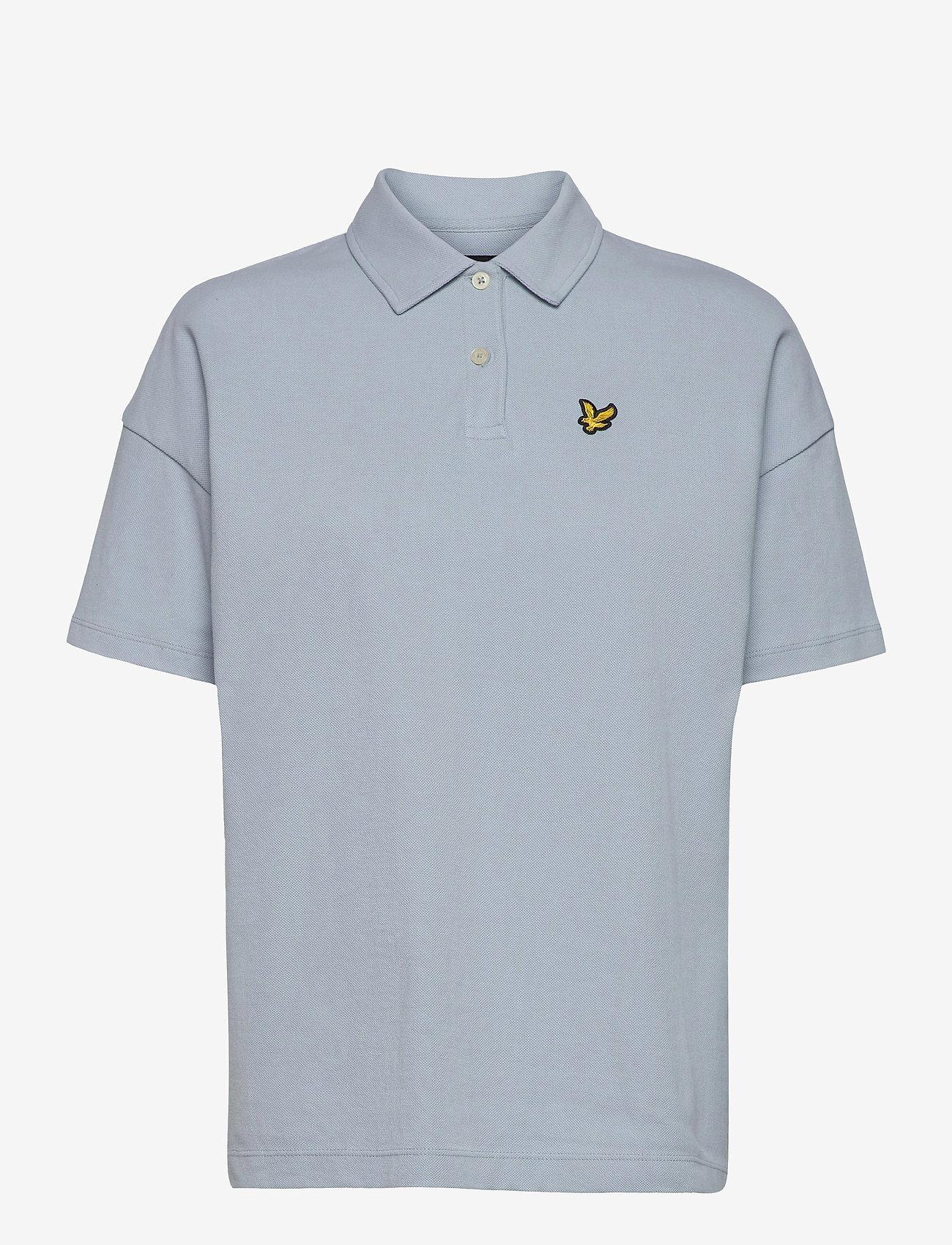Lyle & Scott - Oversized Pique Polo Shirt - polohemden - blue lagoon - 0