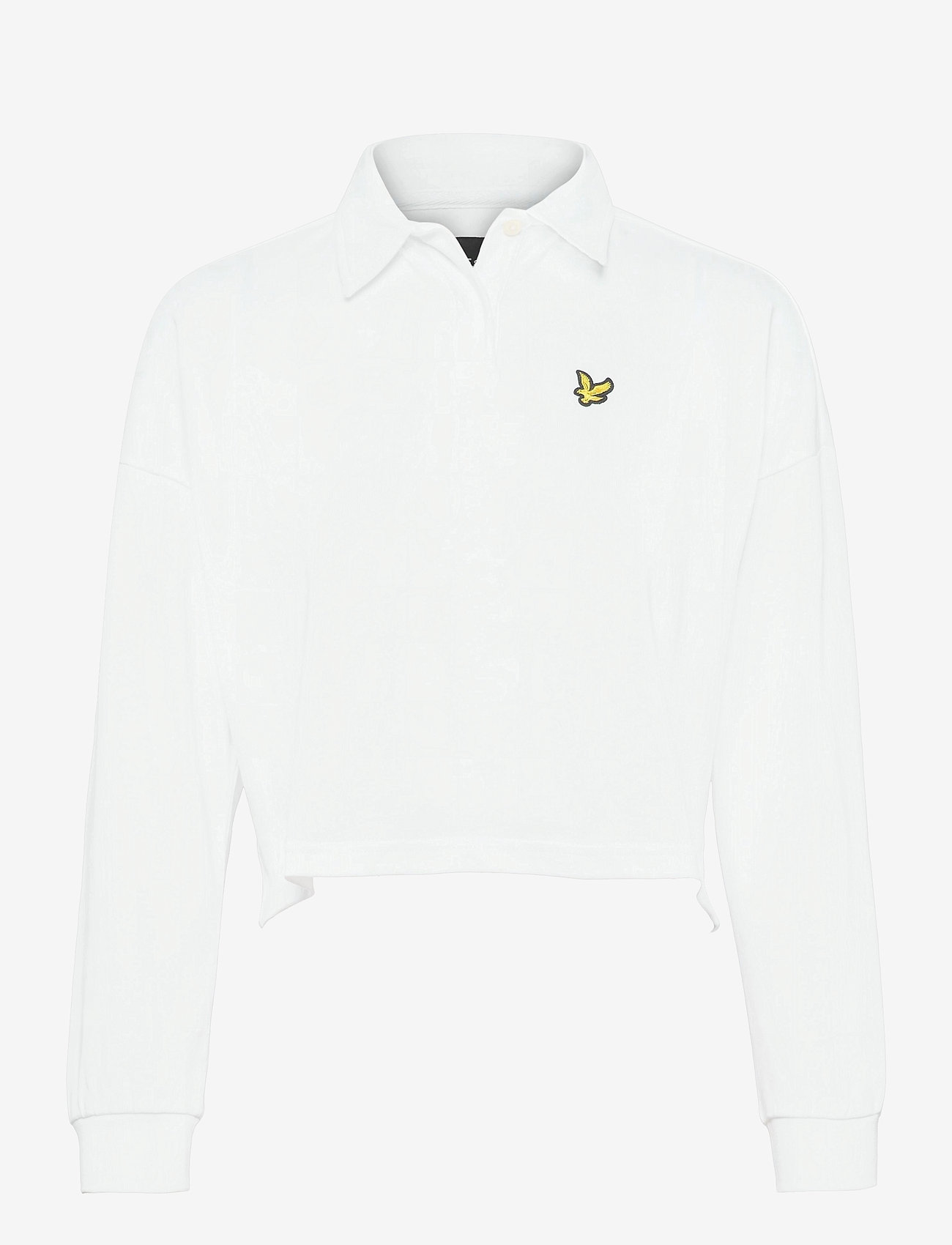 Lyle & Scott - Cropped Rugby Shirt - polohemden - white - 0