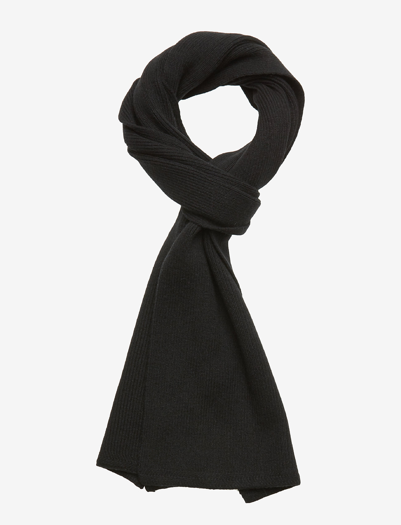 Lyle & Scott - Racked rib scarf - true black - 0
