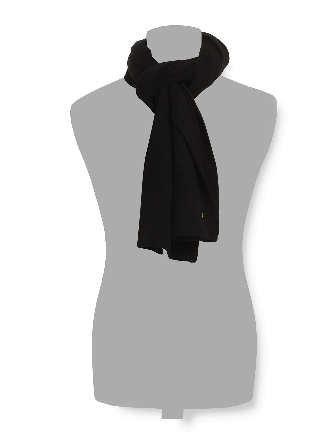 Lyle & Scott - Racked rib scarf - true black - 1