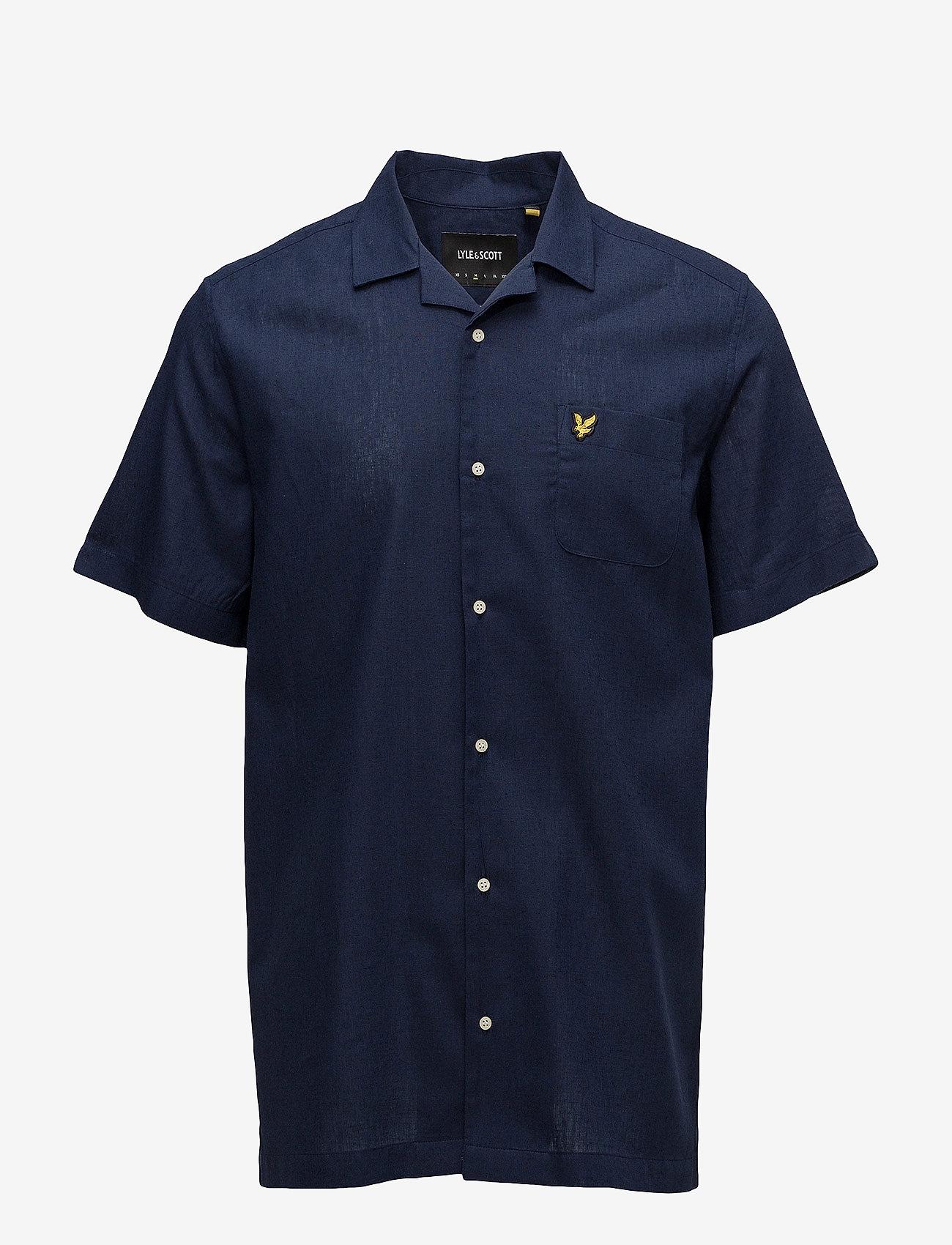 Lyle & Scott - Resort Shirt - koszule lniane - navy - 0