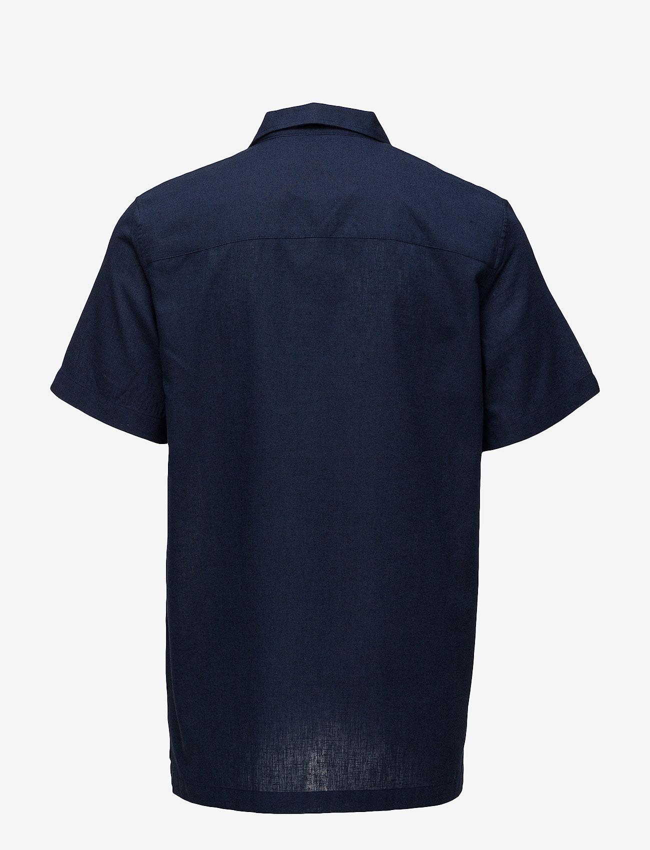Lyle & Scott - Resort Shirt - koszule lniane - navy - 1