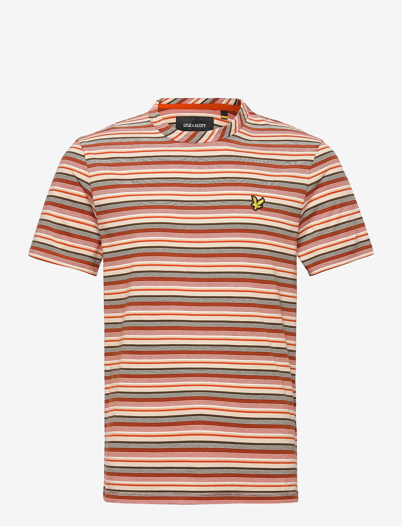 Lyle & Scott - Multi Stripe T-Shirt - t-shirts à manches courtes - burnt orange - 0