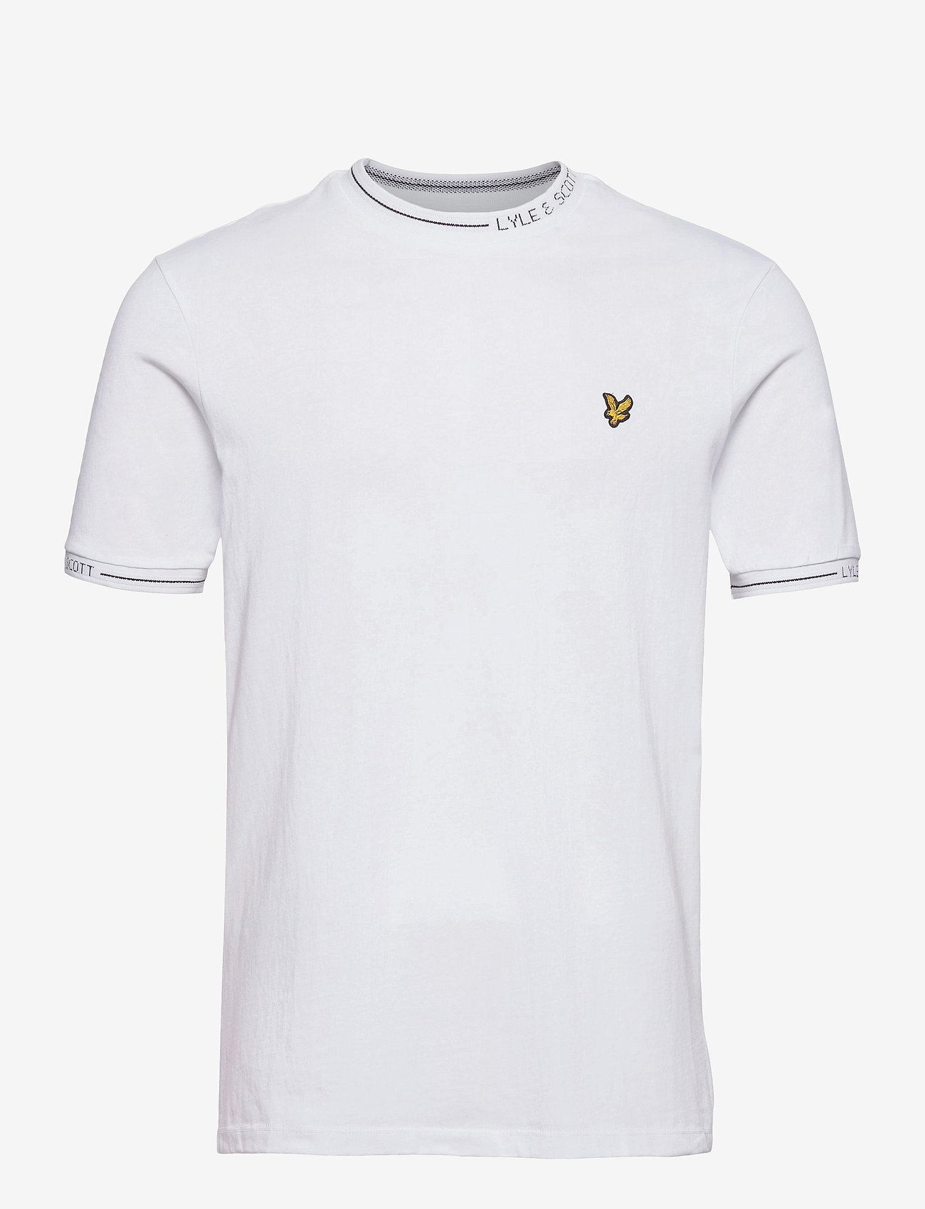 Lyle & Scott - Seasonal Branded Ringer T-shirt - t-shirts basiques - white - 0
