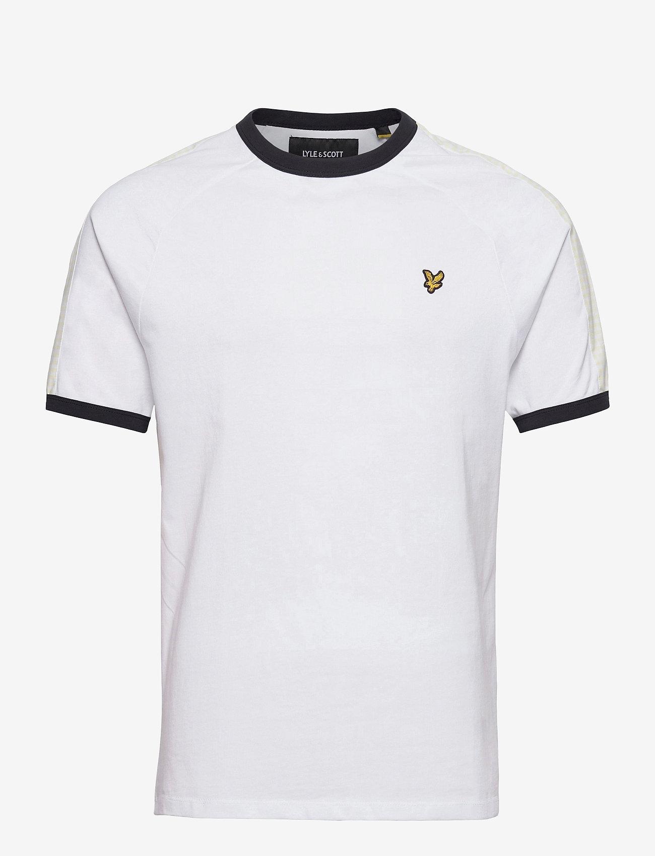 Lyle & Scott - Gingham Stripe Tshirt - t-shirts basiques - white - 0