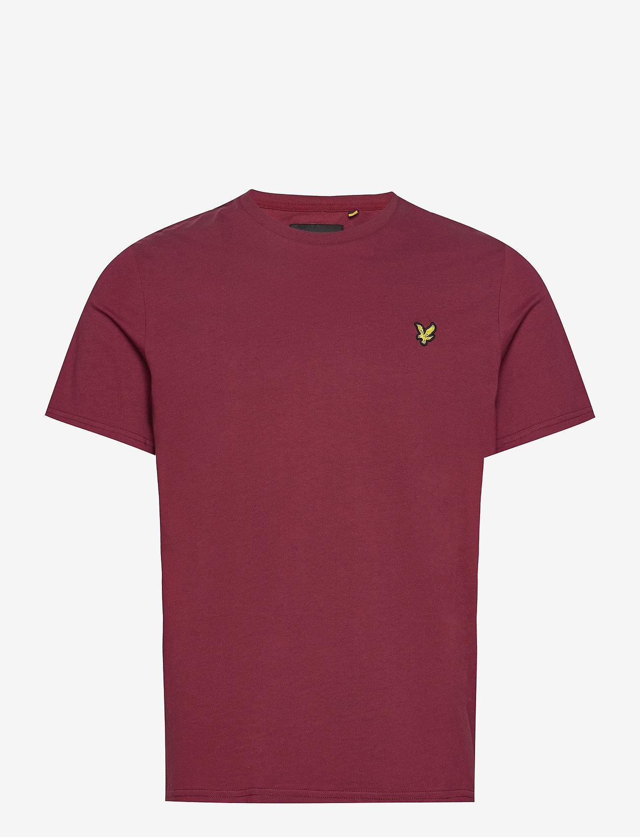 Lyle & Scott - Plain T-Shirt - t-shirts basiques - merlot - 0
