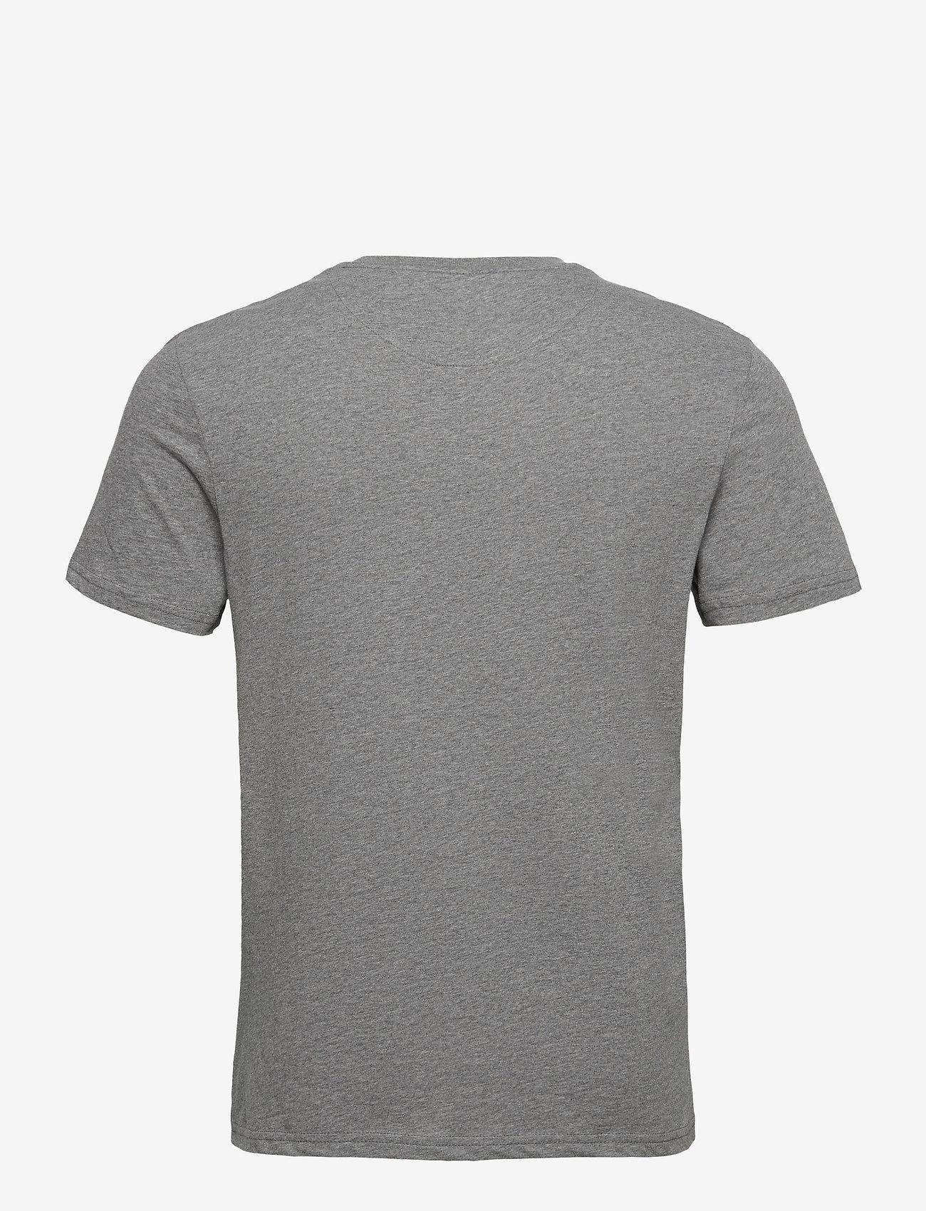Lyle & Scott - Contrast Pocket T Shirt - t-shirts à manches courtes - mid grey marl/ moss - 1