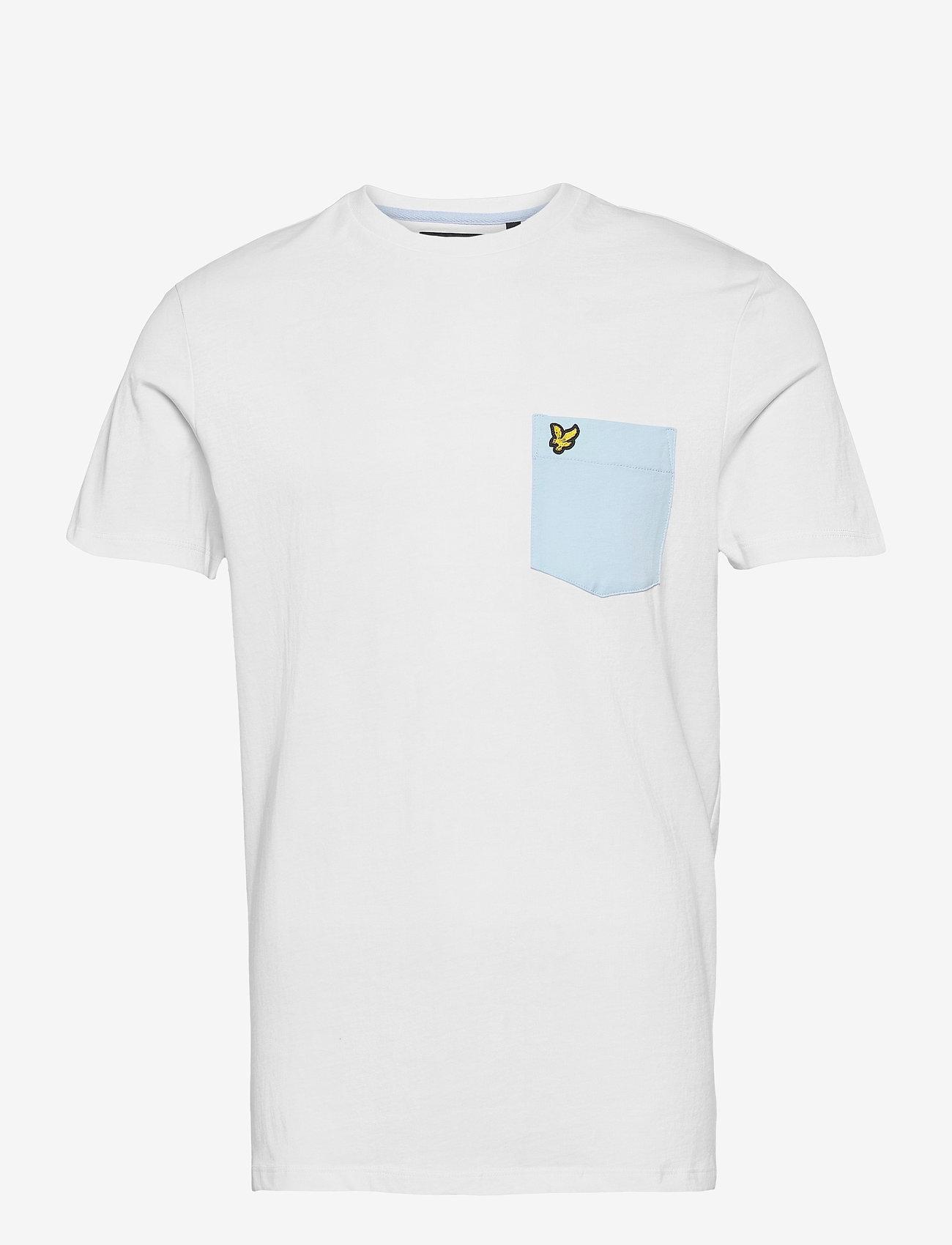 Lyle & Scott - Contrast Pocket T Shirt - t-shirts à manches courtes - white/ deck blue - 0