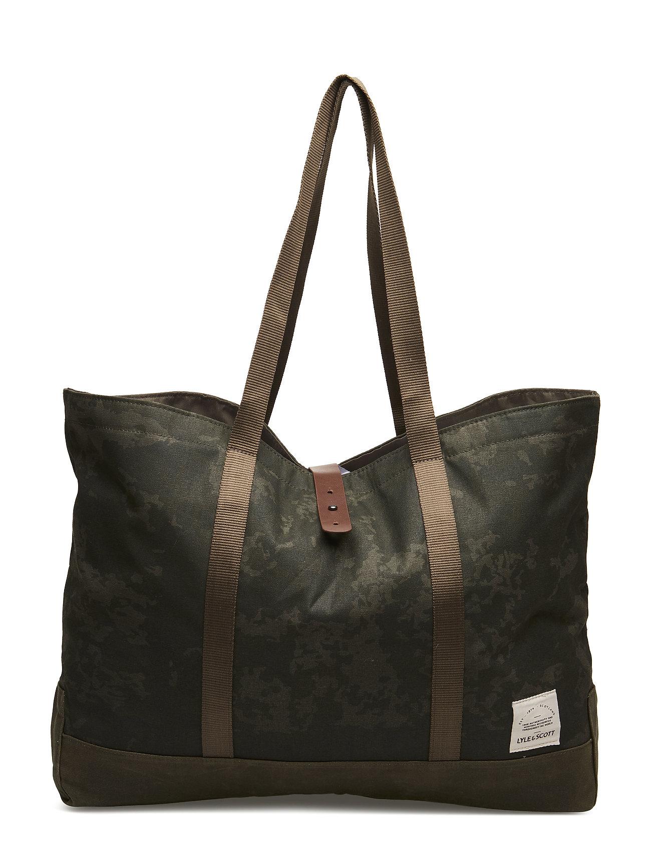 Lyle & Scott Tote Bag - DARK SAGE PRINT