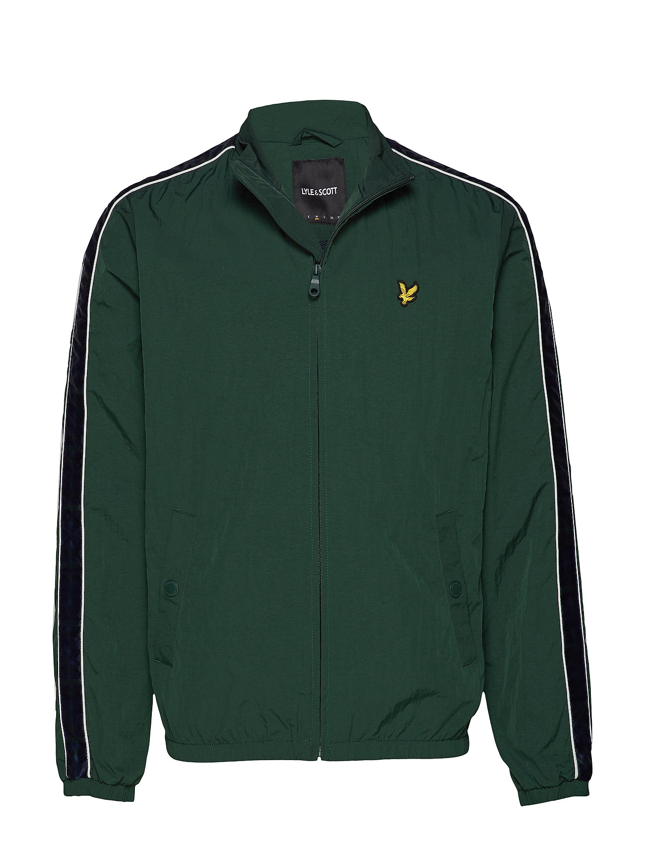 Lyle & Scott Taped Track Jacket - JADE GREEN
