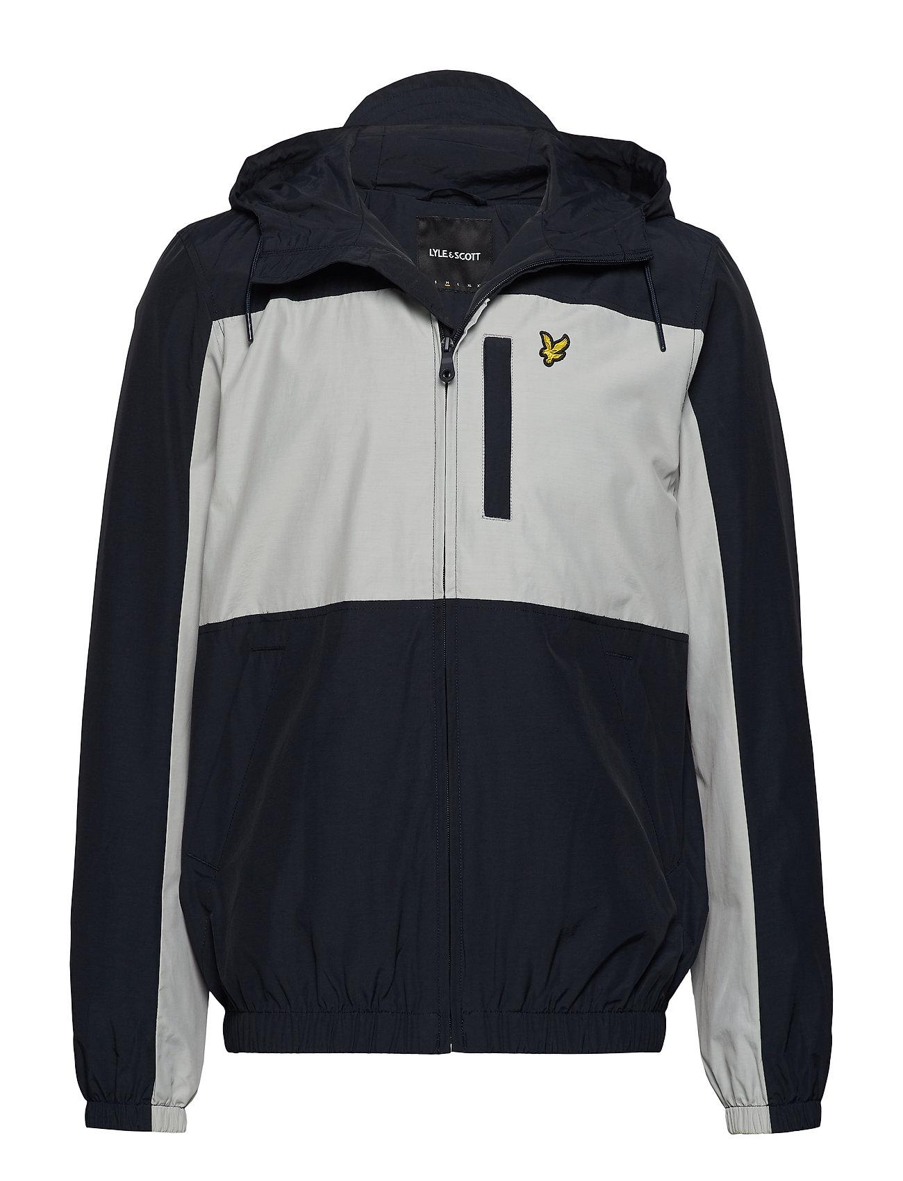 Lyle & Scott Colour Block Zip Through Jacket - DARK NAVY