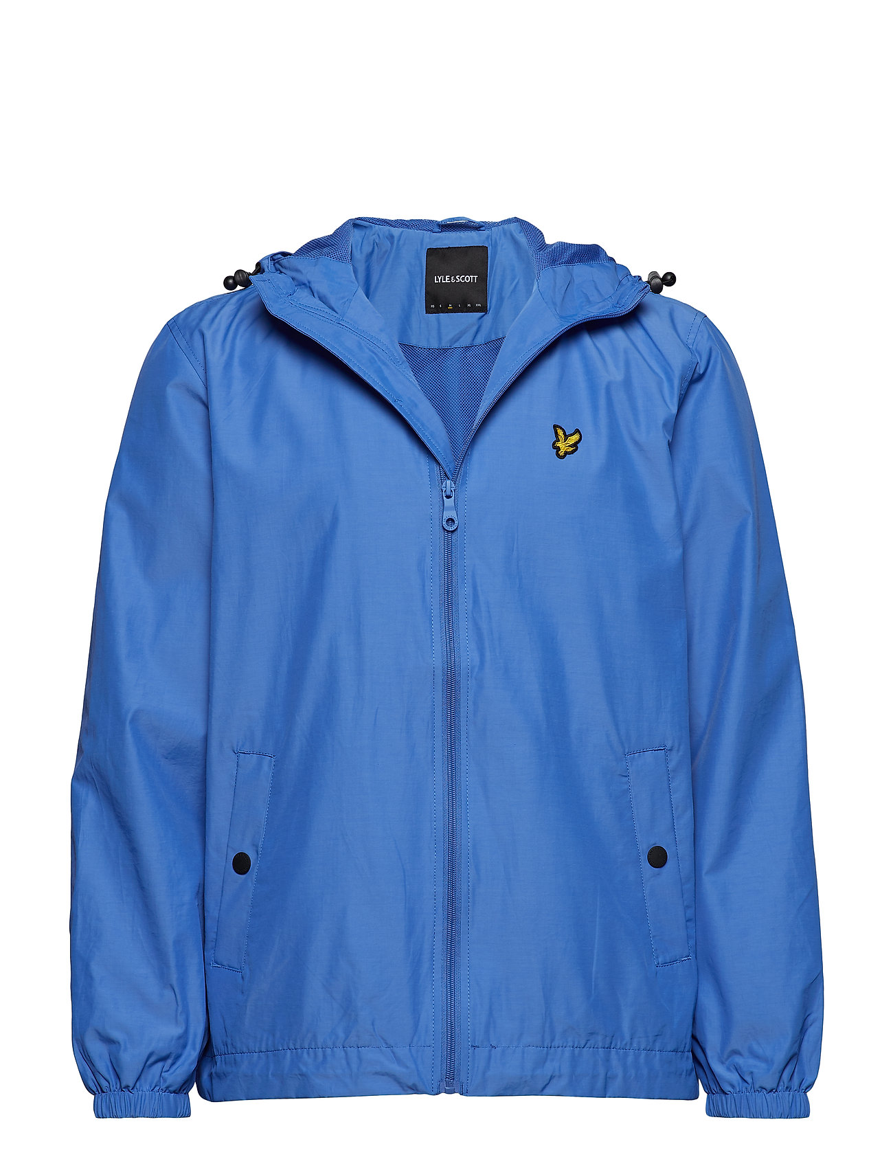 Lyle & Scott Zip Through Hooded Jacket - CORNFLOWER BLUE