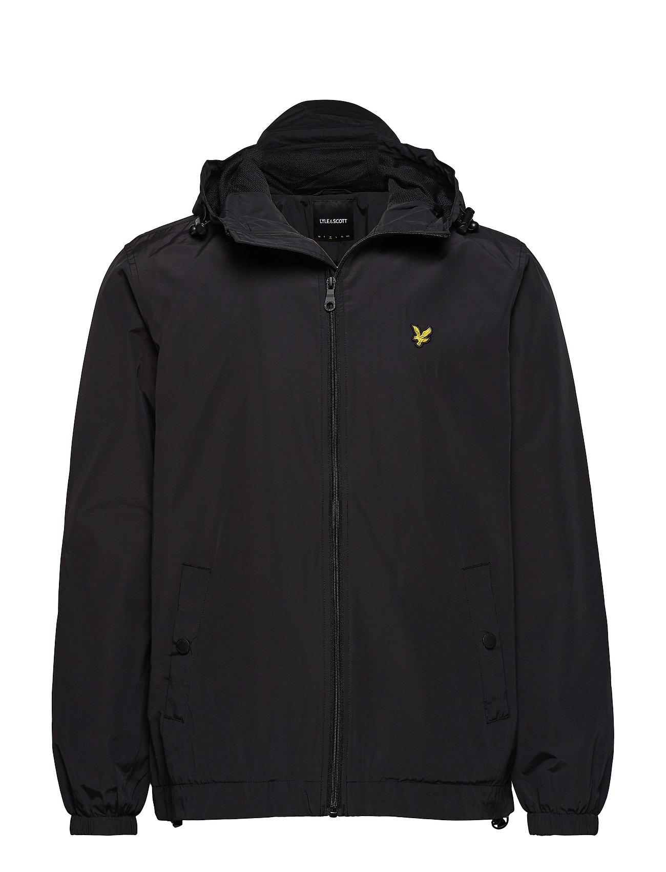 Lyle & Scott Zip Through Hooded Jacket - TRUE BLACK