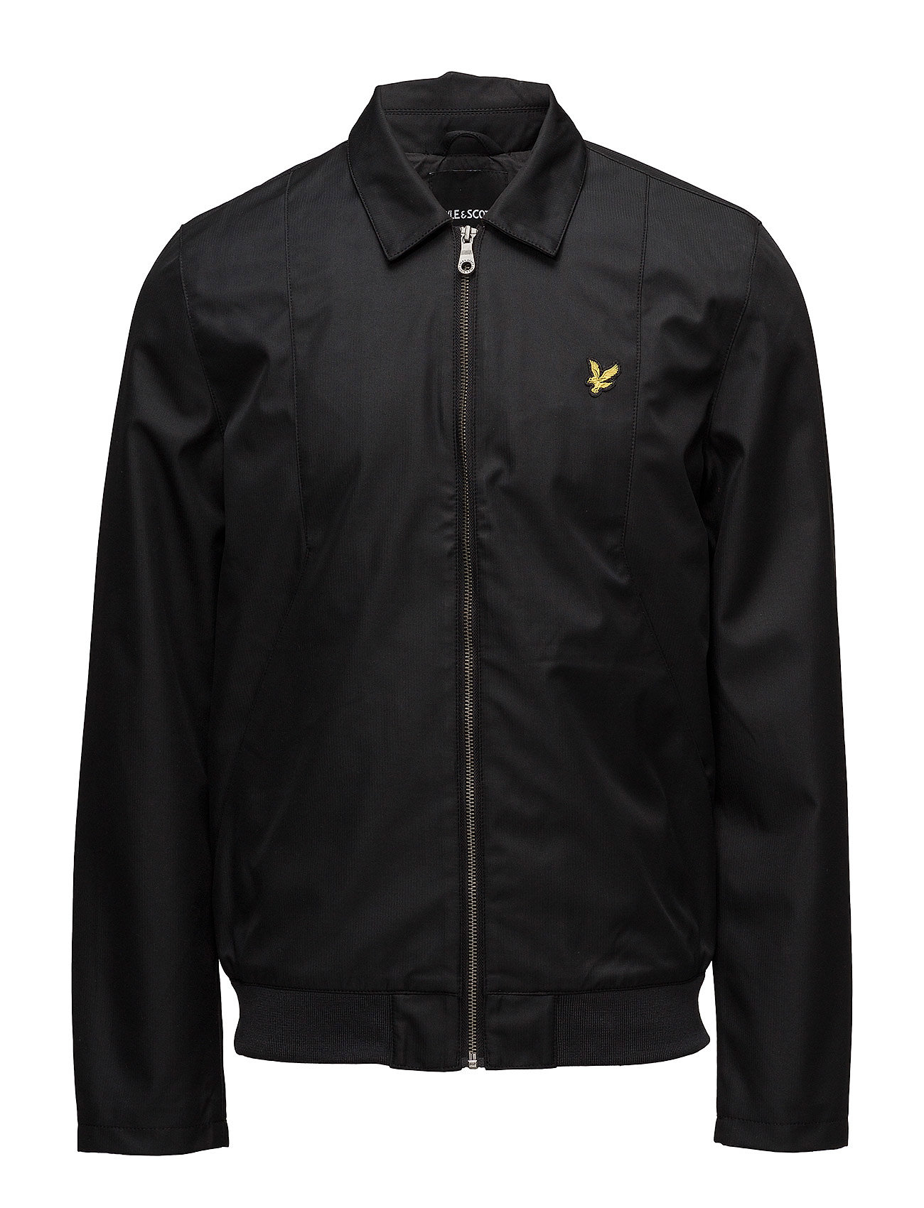 Image of Collared Bomber Jacket Bomberjakke Jakke Sort LYLE & SCOTT (2928963425)