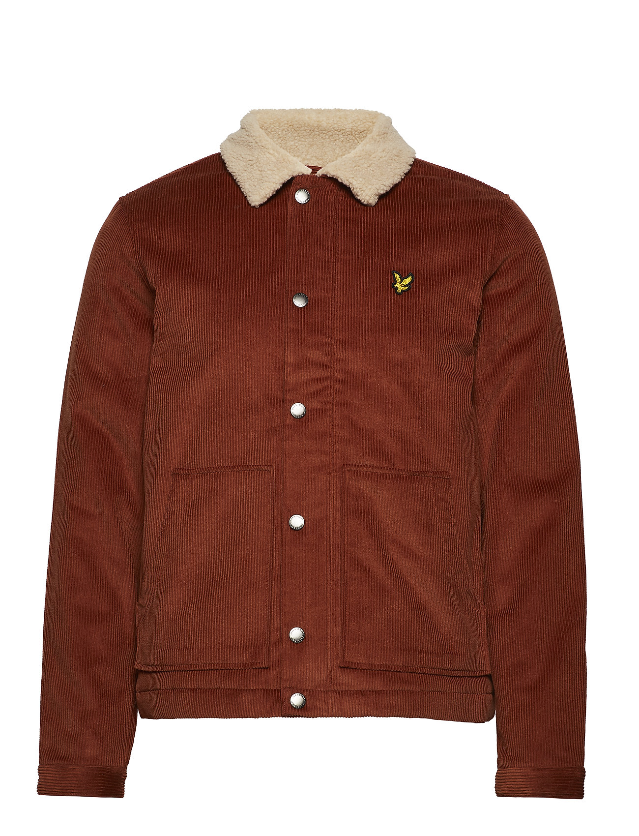 Lyle & Scott Jumbo Cord Shearling Jacket - BROWN SPICE
