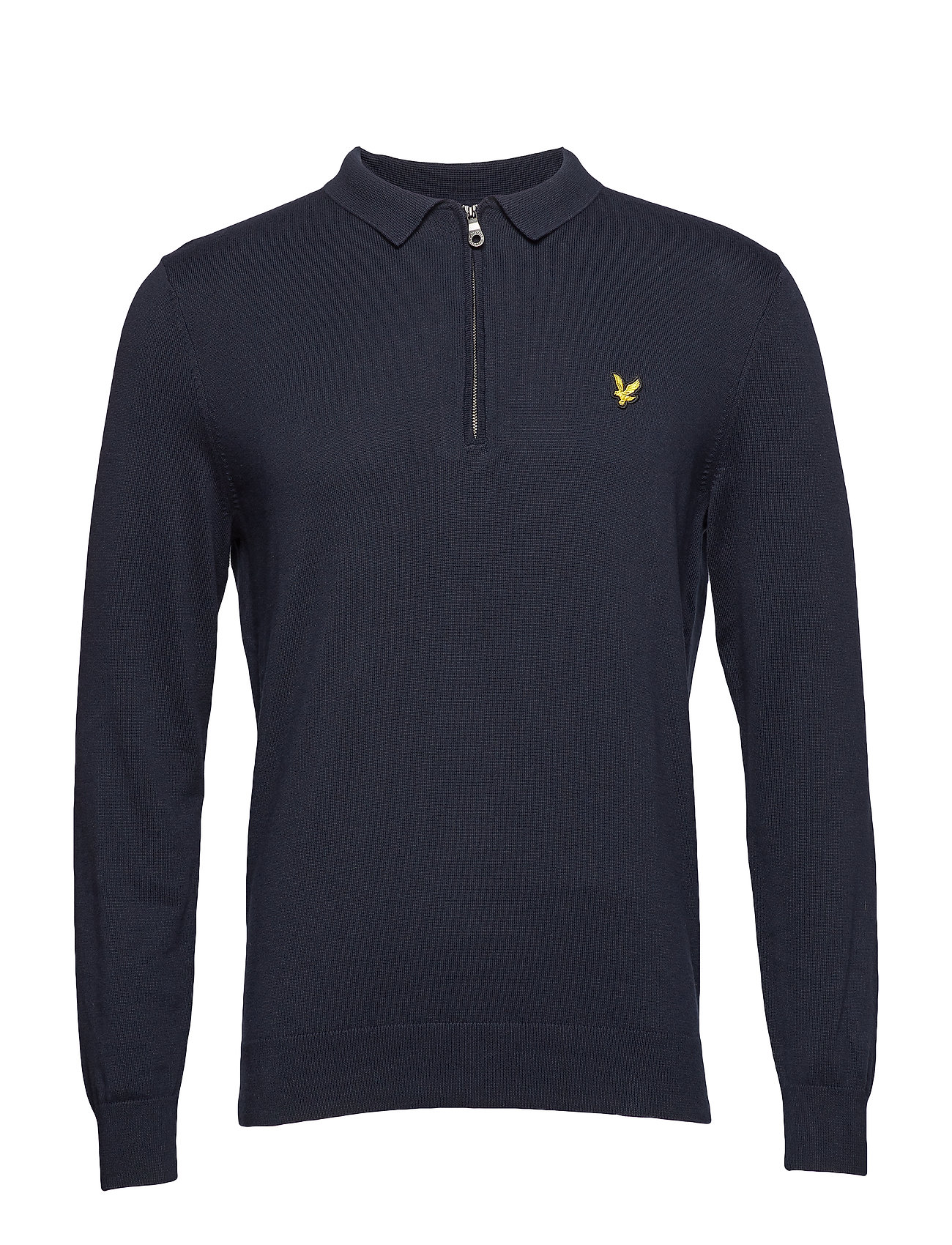 Image of Collared 1/4 Zip Sweatshirt Langærmet Trøje Blå LYLE & SCOTT (3101137181)