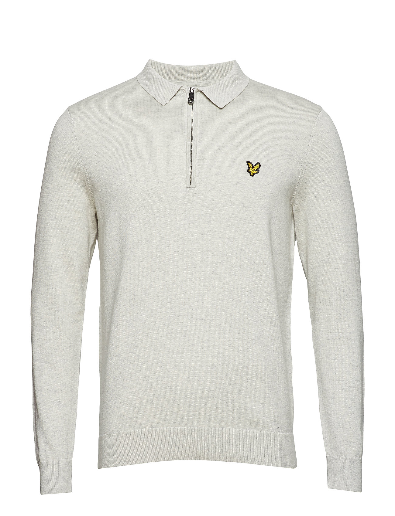 Image of Collared 1/4 Zip Sweatshirt Langærmet Trøje Creme LYLE & SCOTT (3101137185)