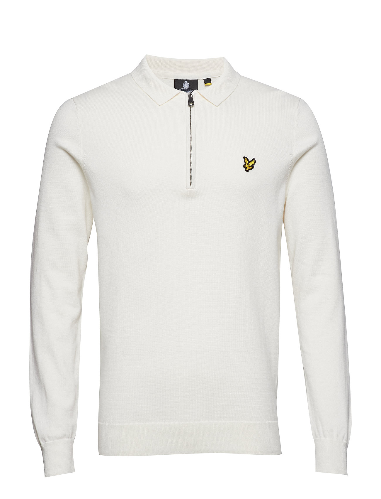 Image of Collared 1/4 Zip Sweatshirt Langærmet Trøje Creme LYLE & SCOTT (3101137183)