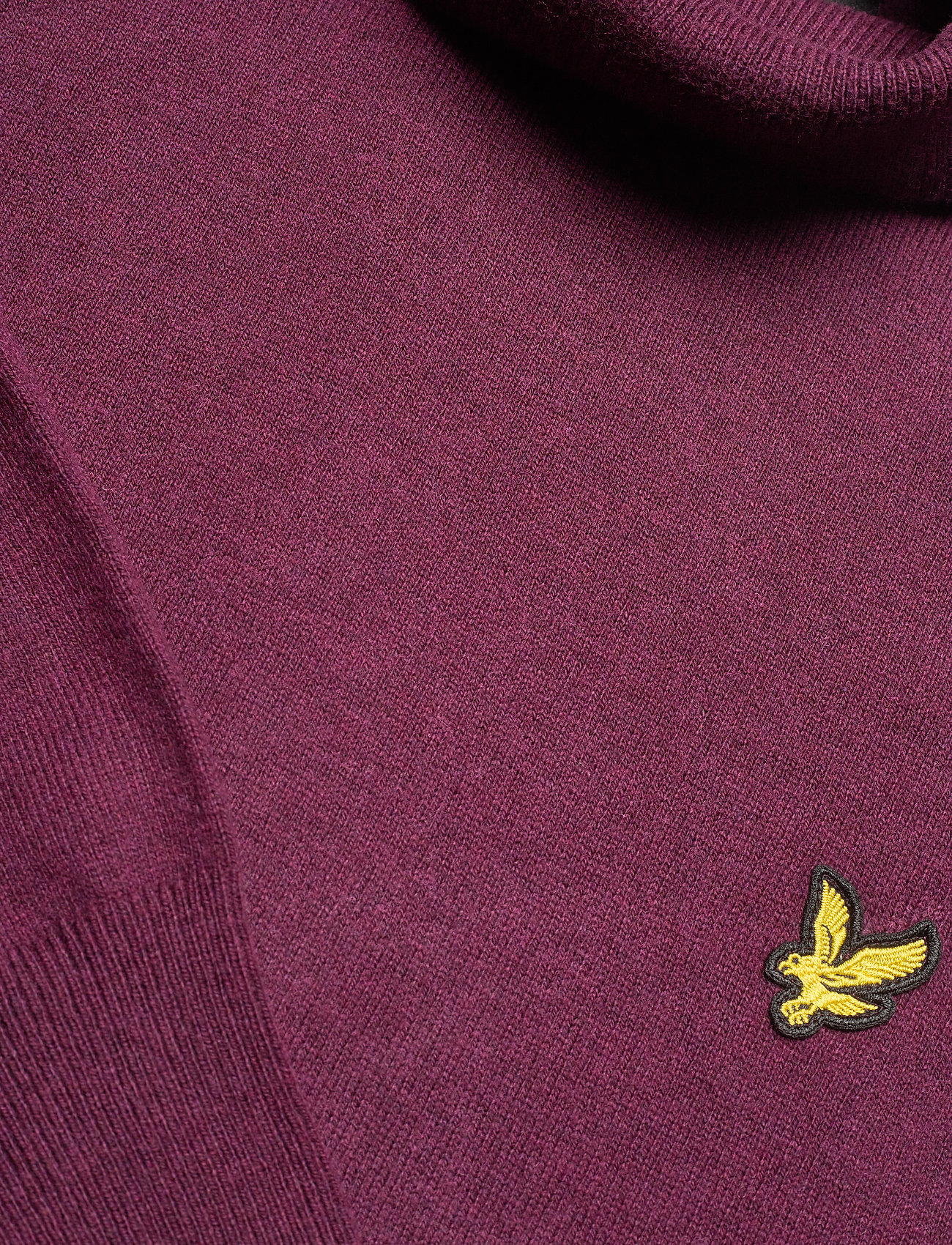 Lyle & Scott Roll Neck Jumper - Strikkevarer BURGUNDY - Menn Klær