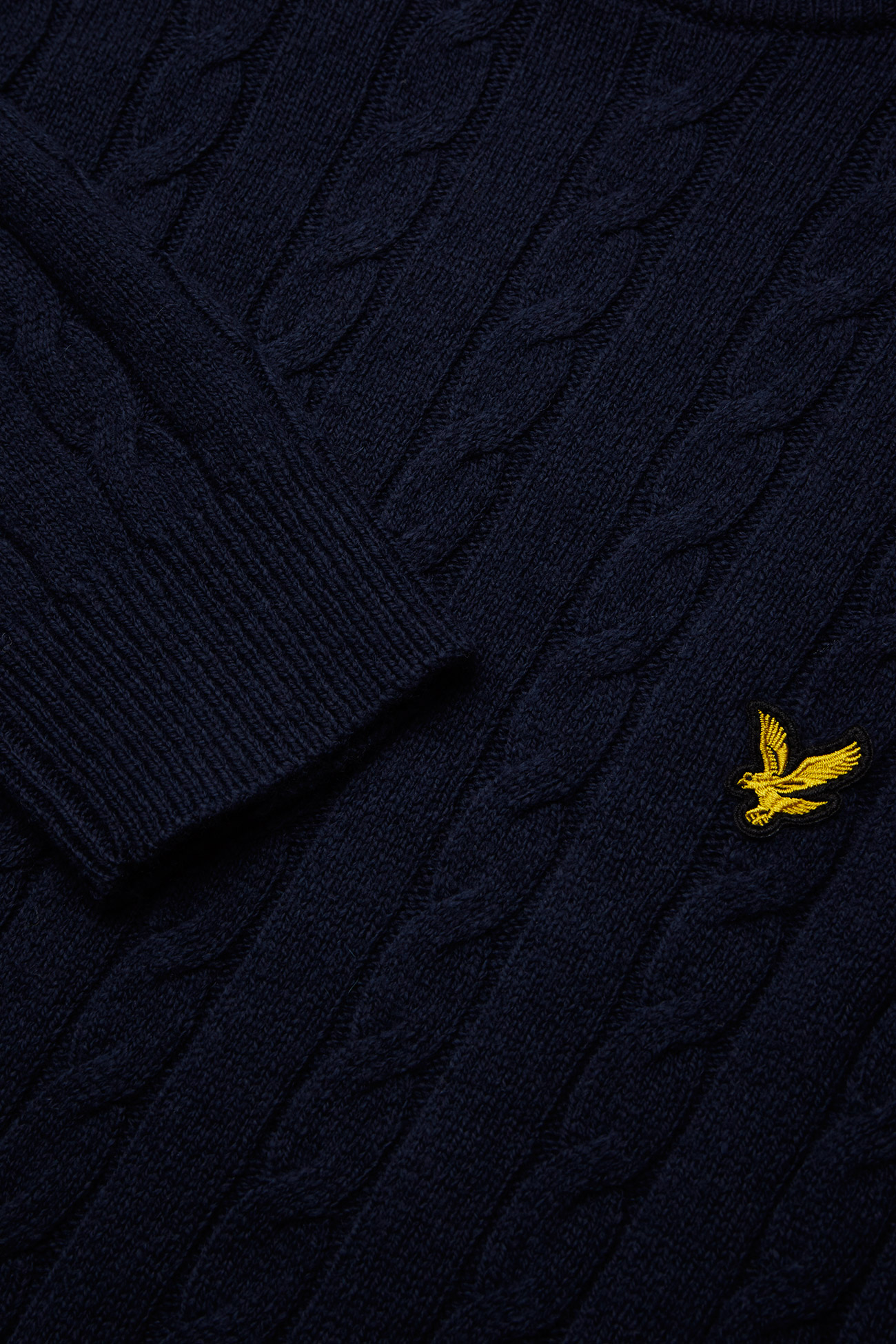 Lyle & Scott Cable Jumper - Strikkevarer DARK NAVY MARL - Menn Klær
