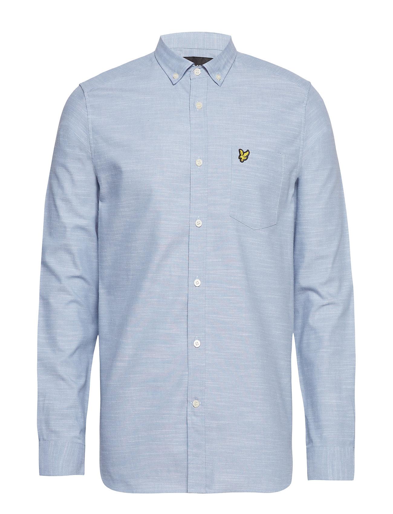 Lyle & Scott Space Dye Oxford Shirt - STONE BLUE