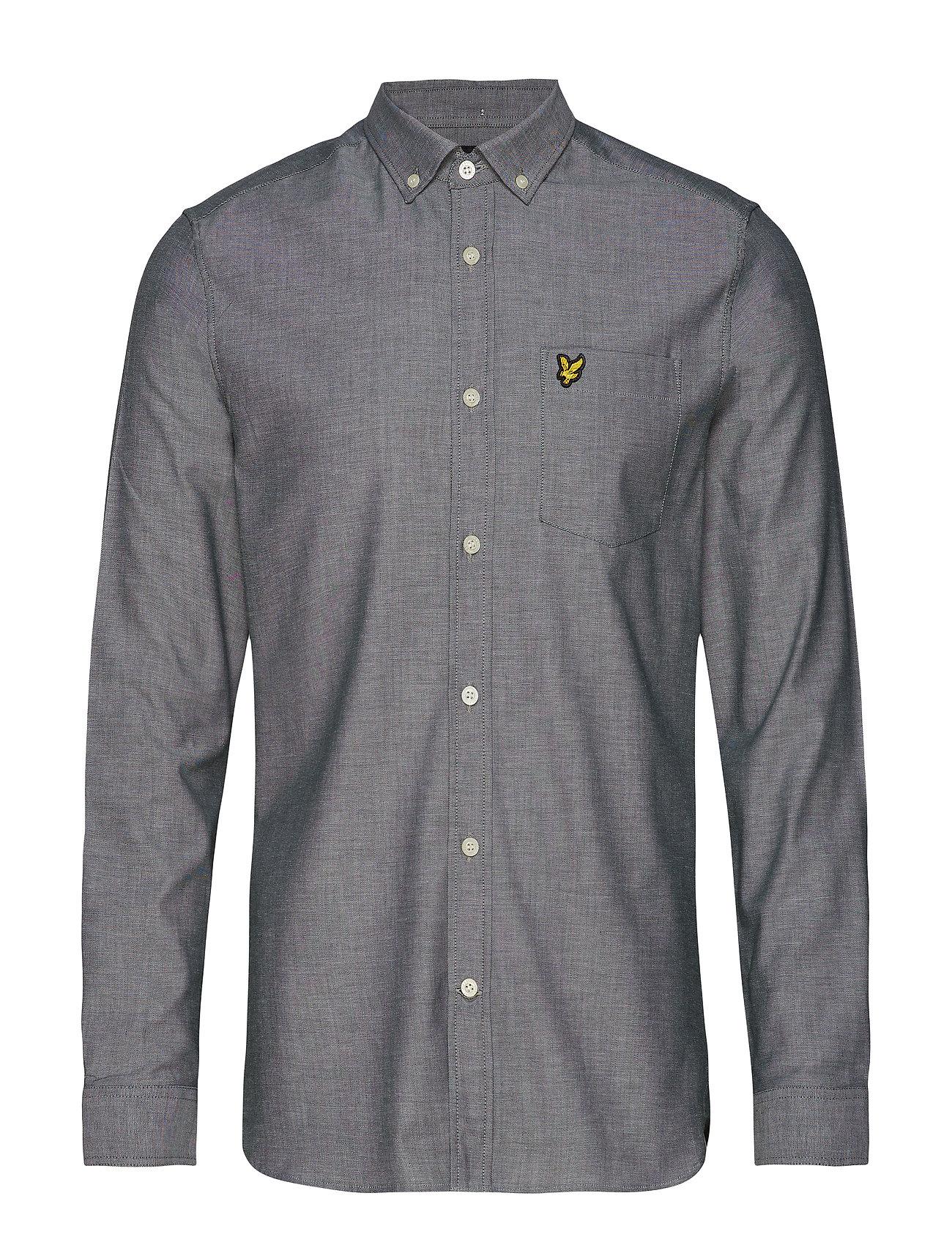 Lyle & Scott Slim Fit Oxford Shirt - JADE GREEN