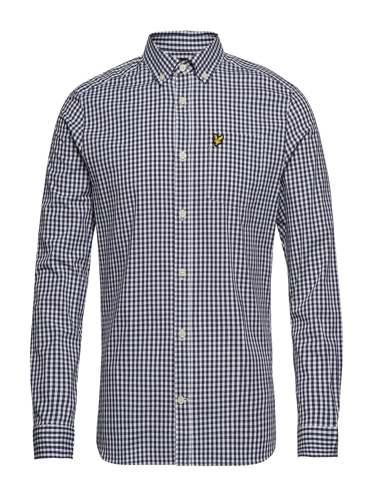 Lyle & Scott LS Slim Fit Gingham Shirt - NAVY/WHITE