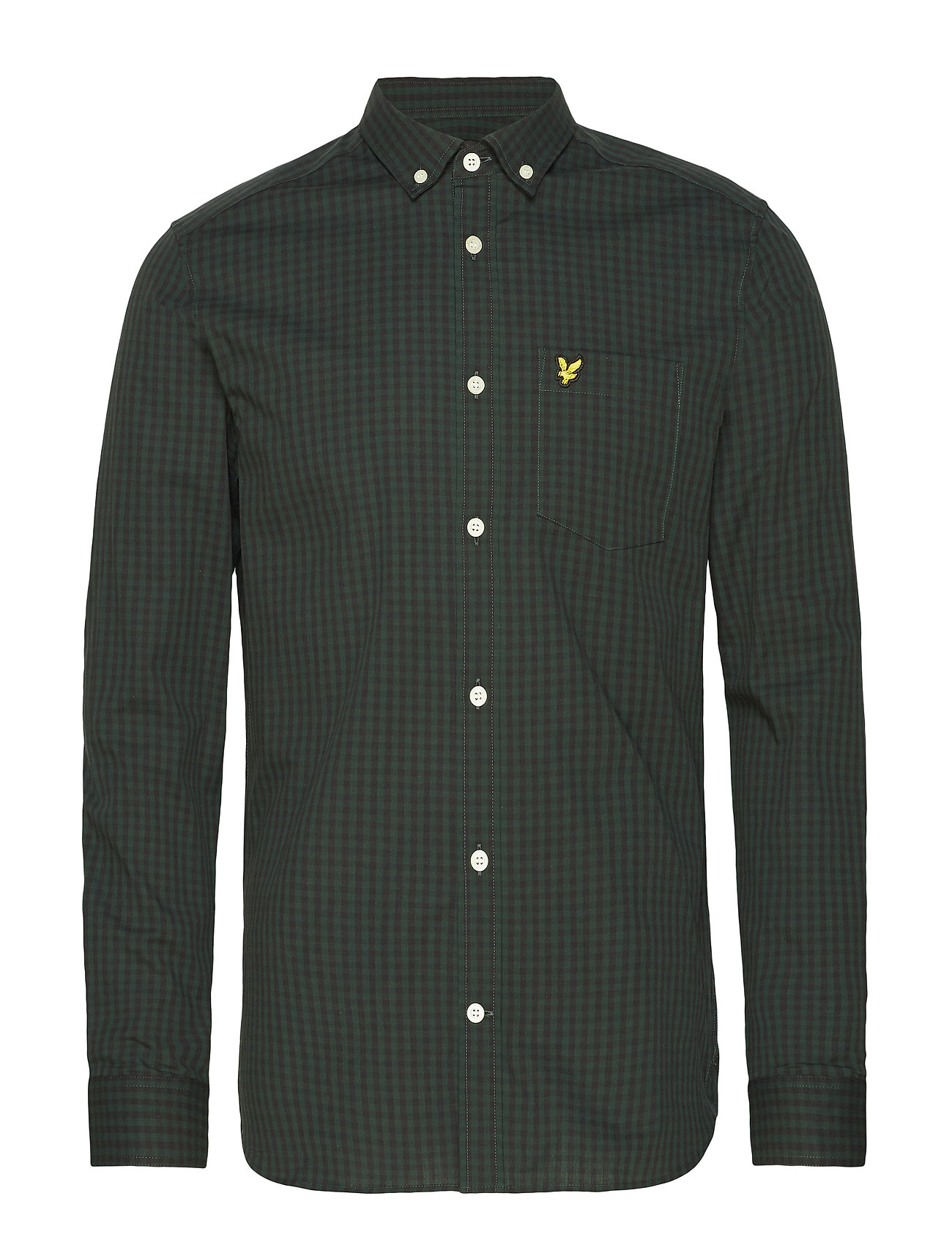 Lyle & Scott LS Slim Fit Gingham Shirt - TRUE BLACK/JADE GREEN