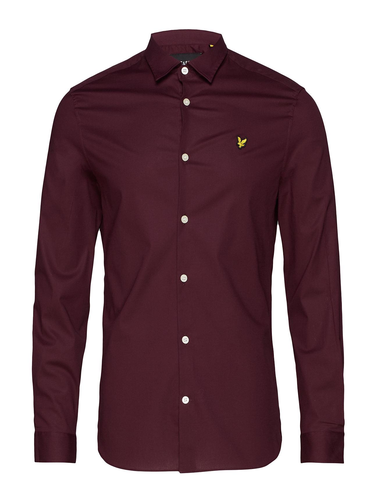 Lyle & Scott LS Slim Fit Poplin Shirt - BURGUNDY