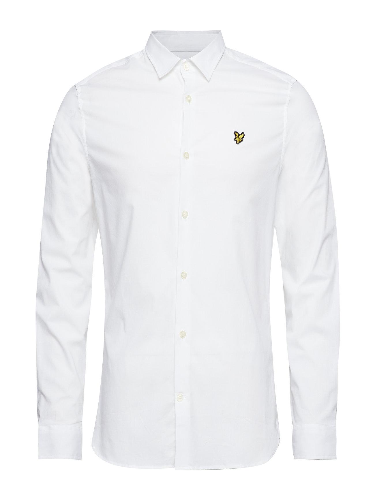 Lyle & Scott LS Slim Fit Poplin Shirt - WHITE