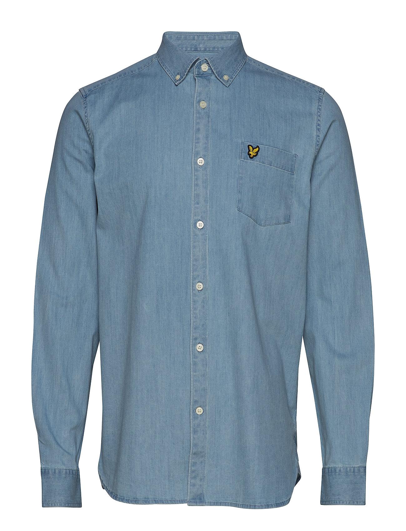 Lyle & Scott Regular Fit Denim Shirt - WASHED INDIGO