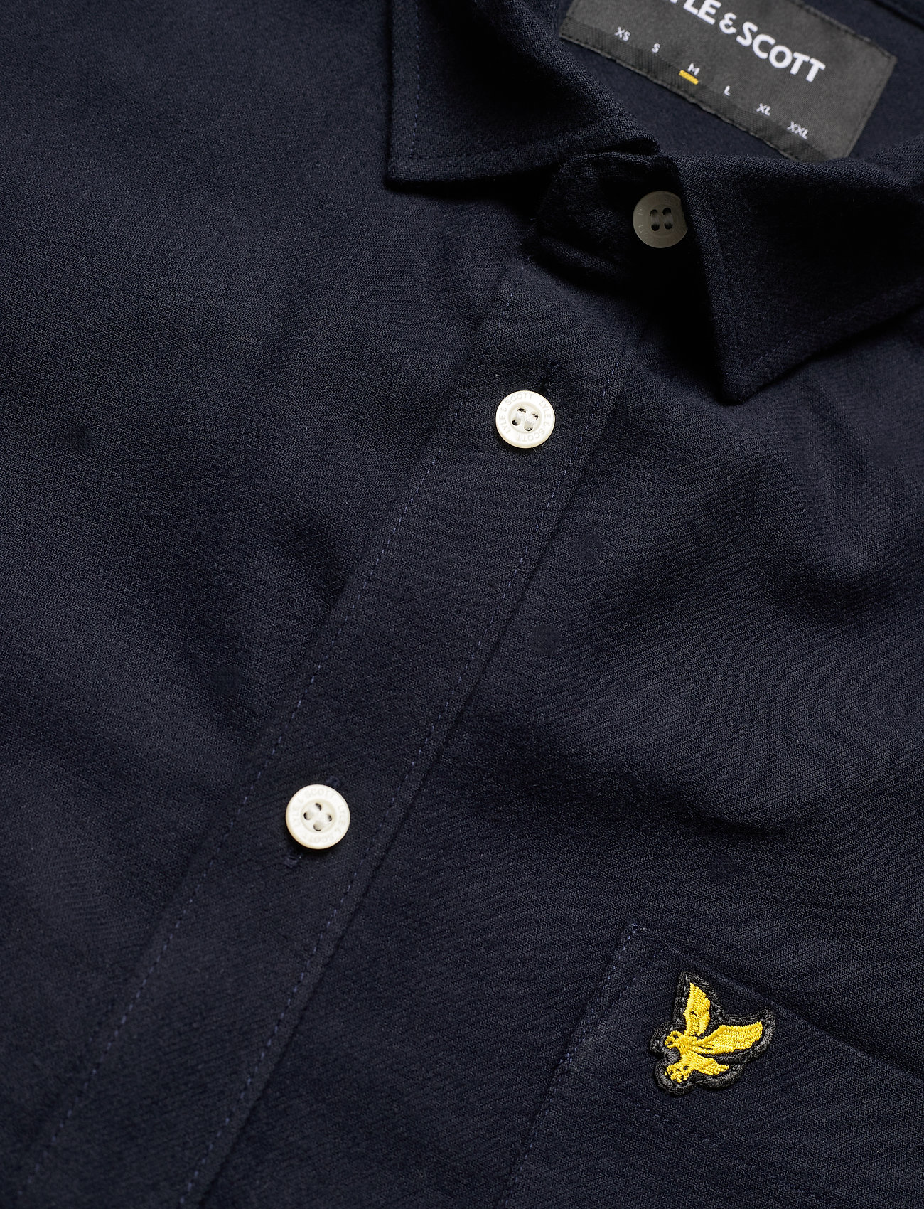 Lyle & Scott Brushed Twill Shirt - Skjorter DARK NAVY - Menn Klær