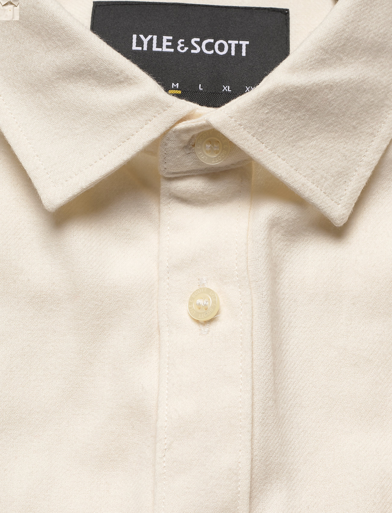 Lyle & Scott Brushed Twill Shirt - Skjorter VANILLA ICE - Menn Klær