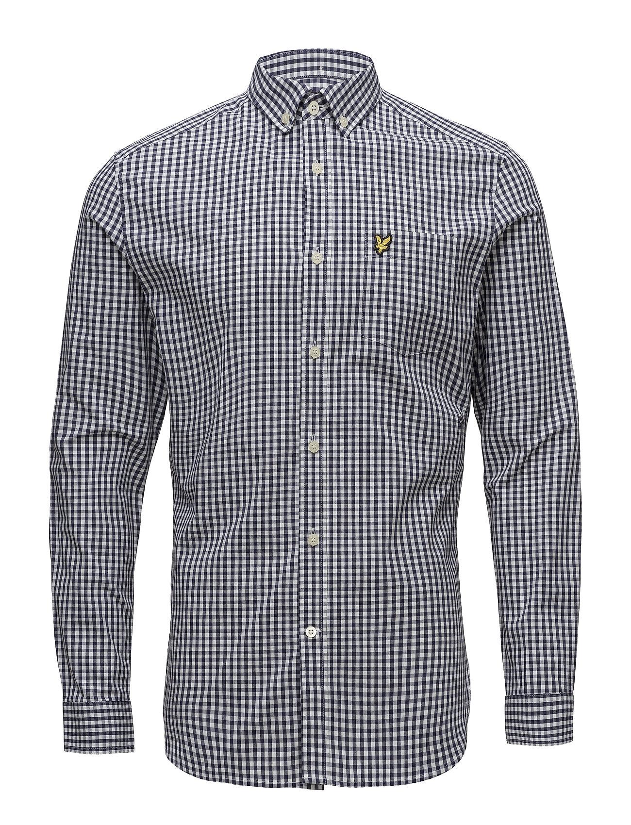 Lyle & Scott LS Slim Fit Gingham Shirt - NAVY
