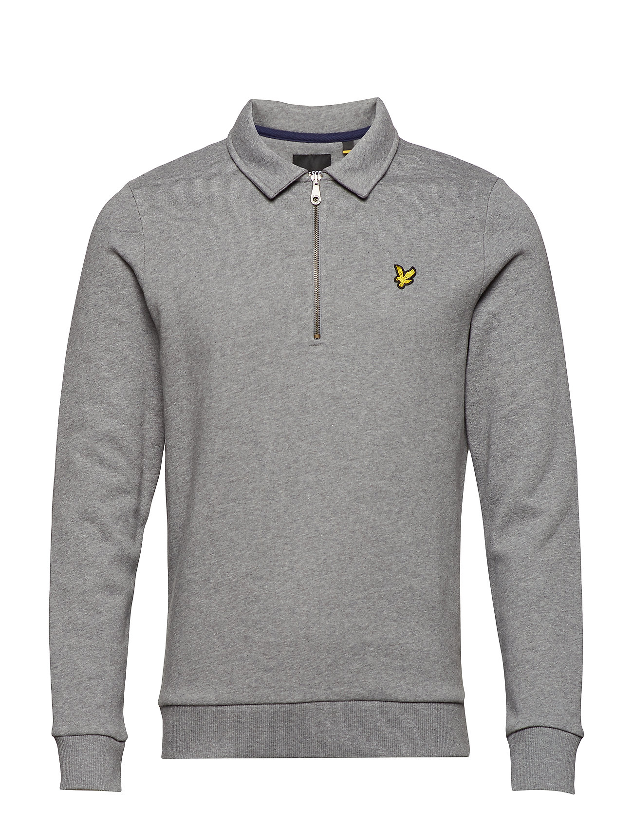 Image of Collared 1/4 Zip Sweatshirt Langærmet Trøje Grå LYLE & SCOTT (3091461289)