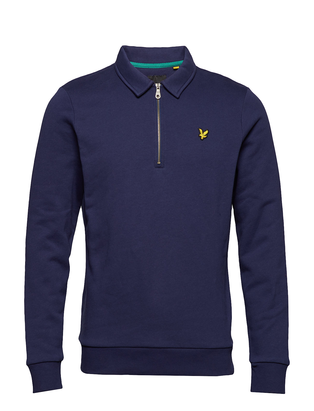 Image of Collared 1/4 Zip Sweatshirt Langærmet Trøje Blå LYLE & SCOTT (3090828769)