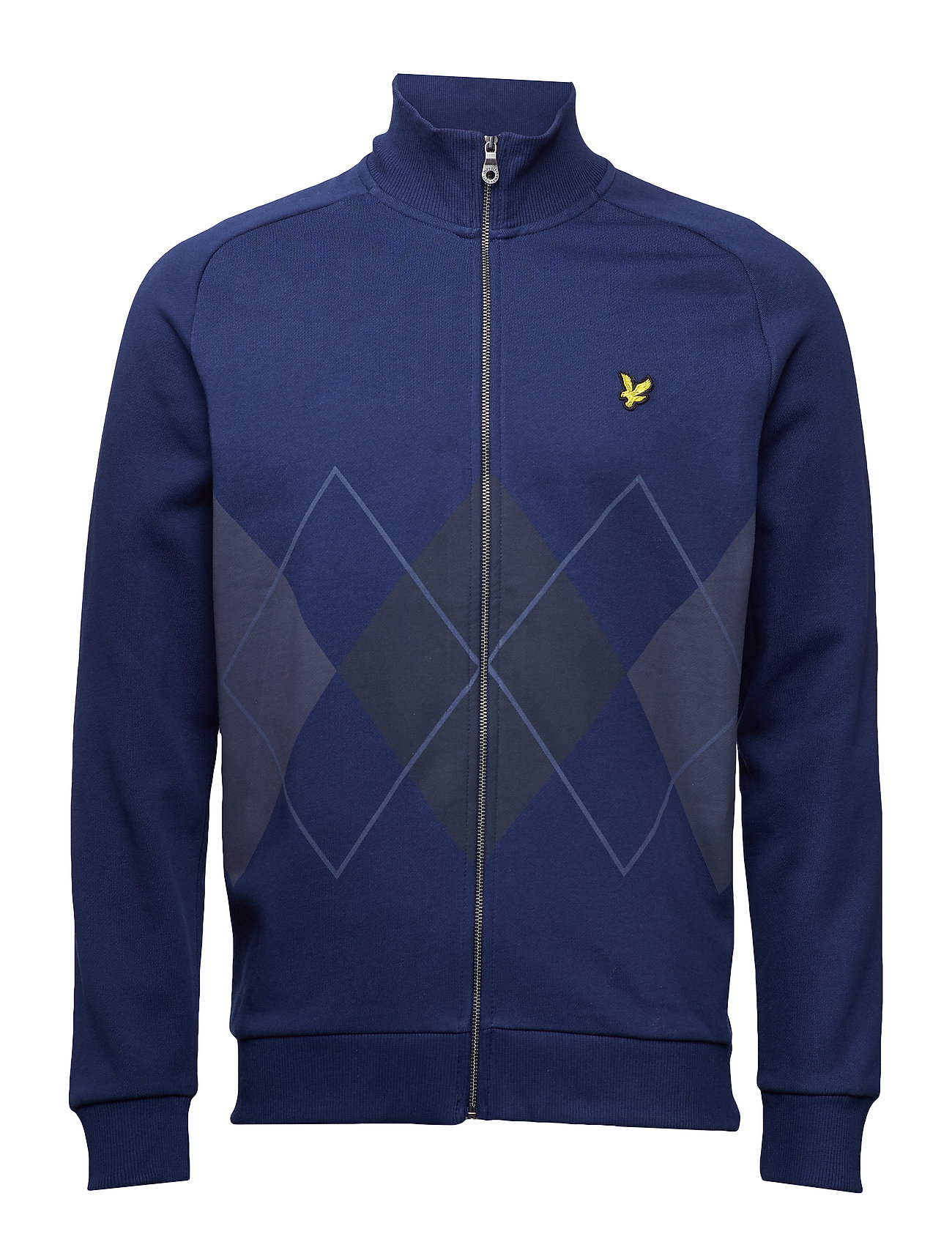 Lyle & Scott Argyle Zip Through Sweatshirt Ögrönlar