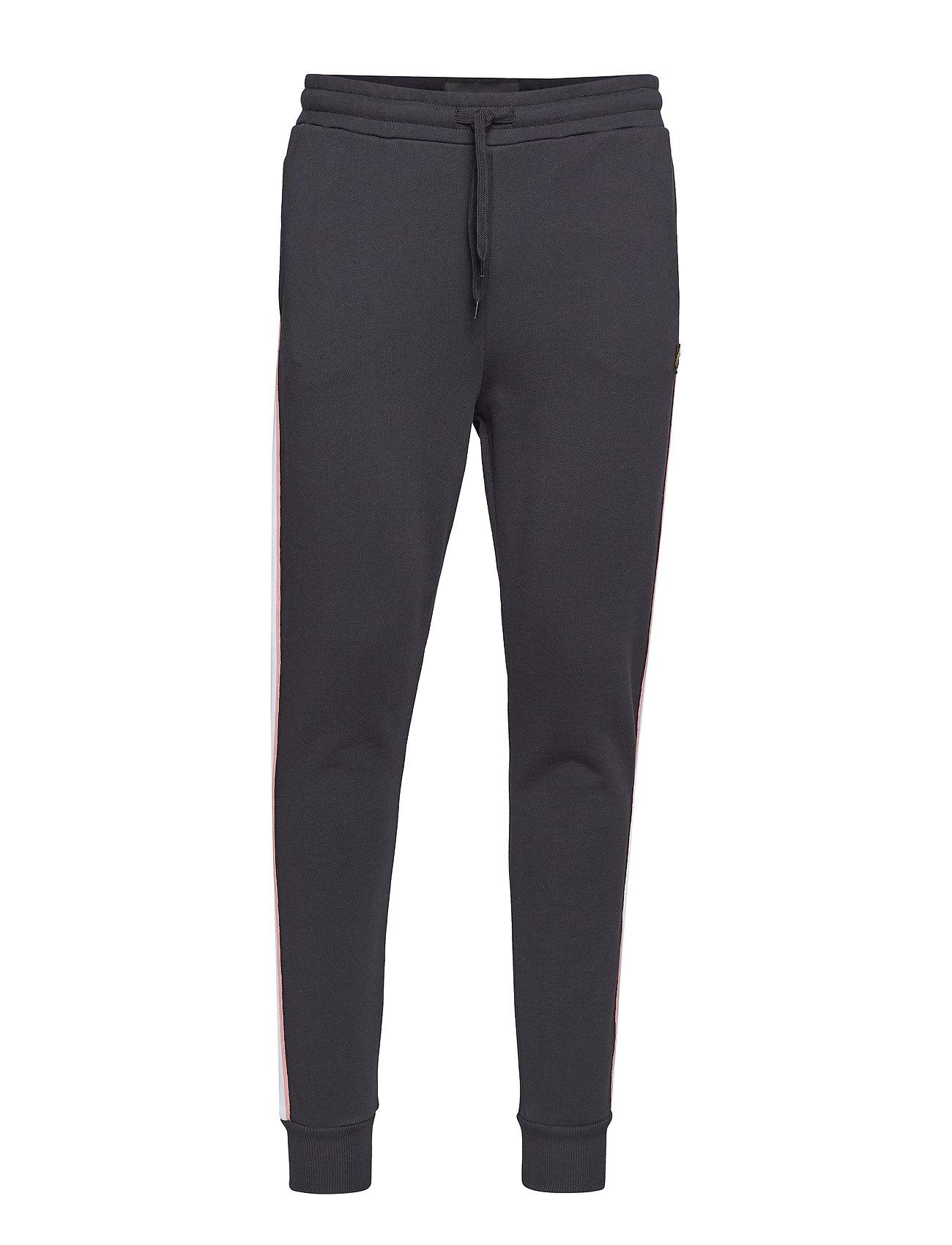 Lyle & Scott Side Stripe Skinny Sweatpant - TRUE BLACK