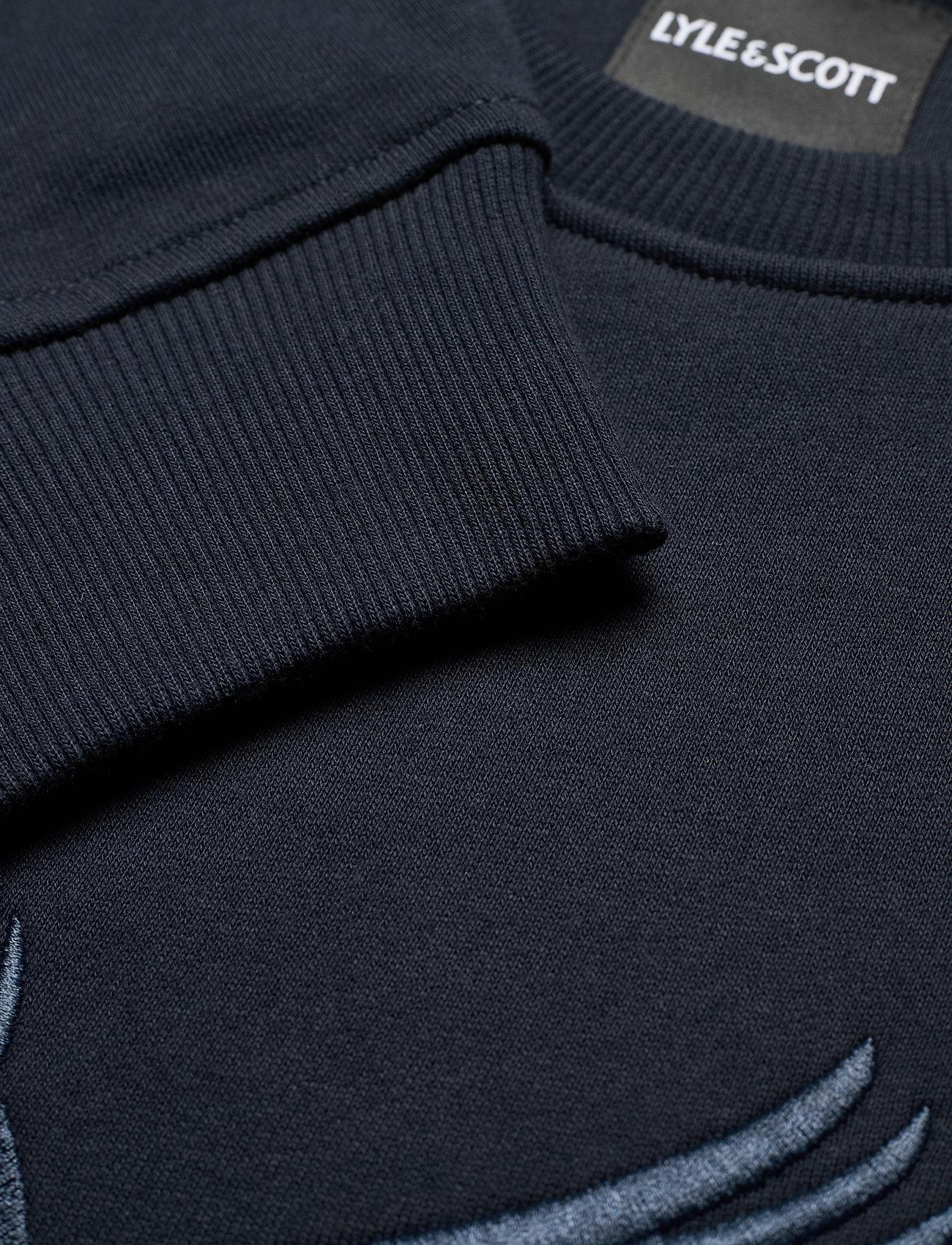 Lyle & Scott Embroidered Eagle Sweatshirt - Sweatshirts DARK NAVY - Menn Klær