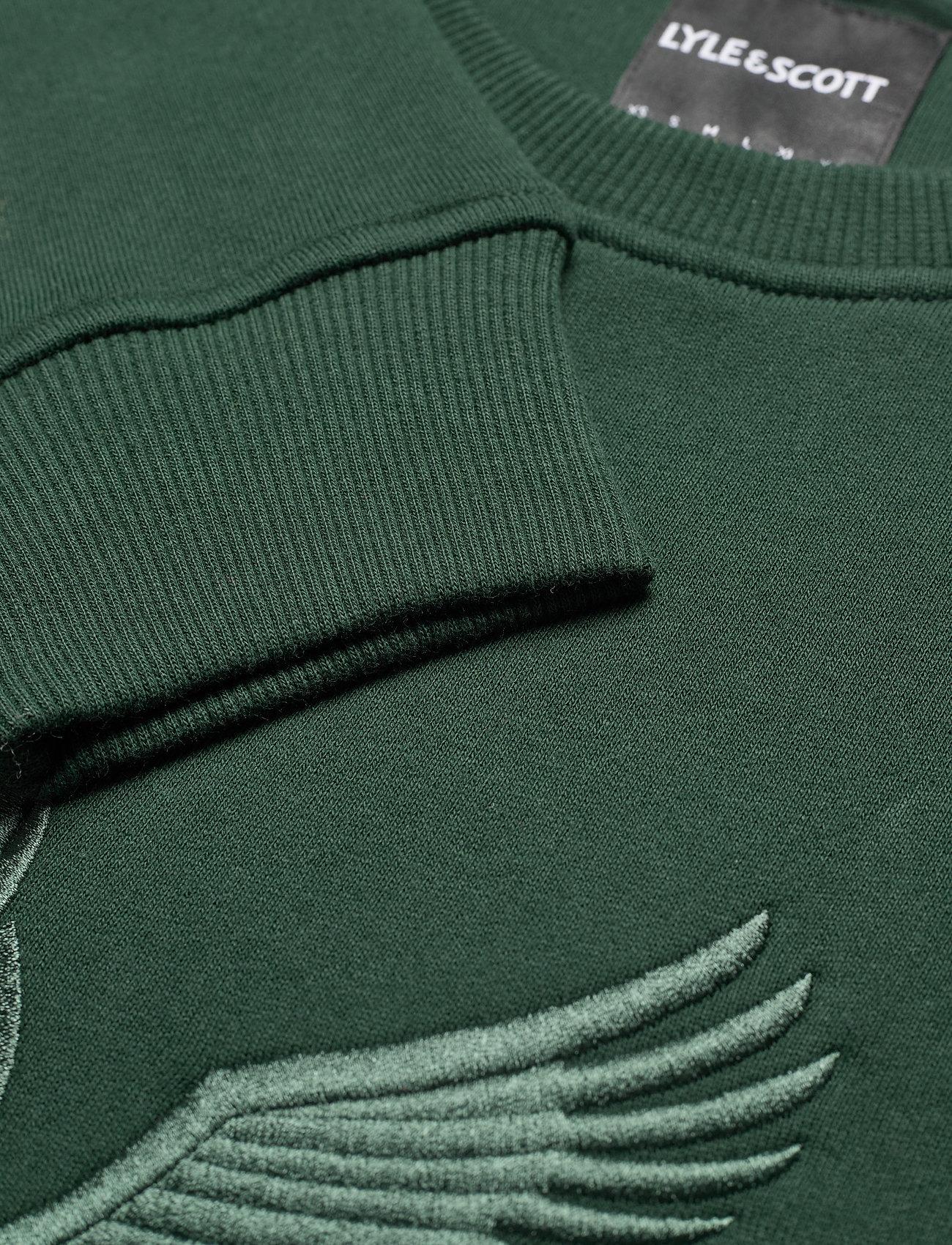 Lyle & Scott Embroidered Eagle Sweatshirt - Sweatshirts JADE GREEN - Menn Klær