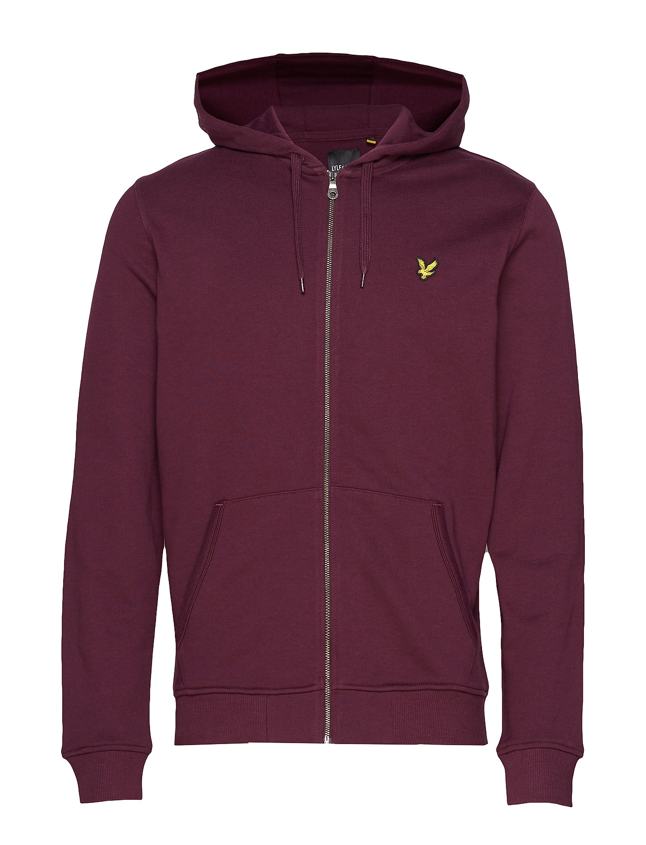 Lyle & Scott Zip Through Hoodie - BURGUNDY