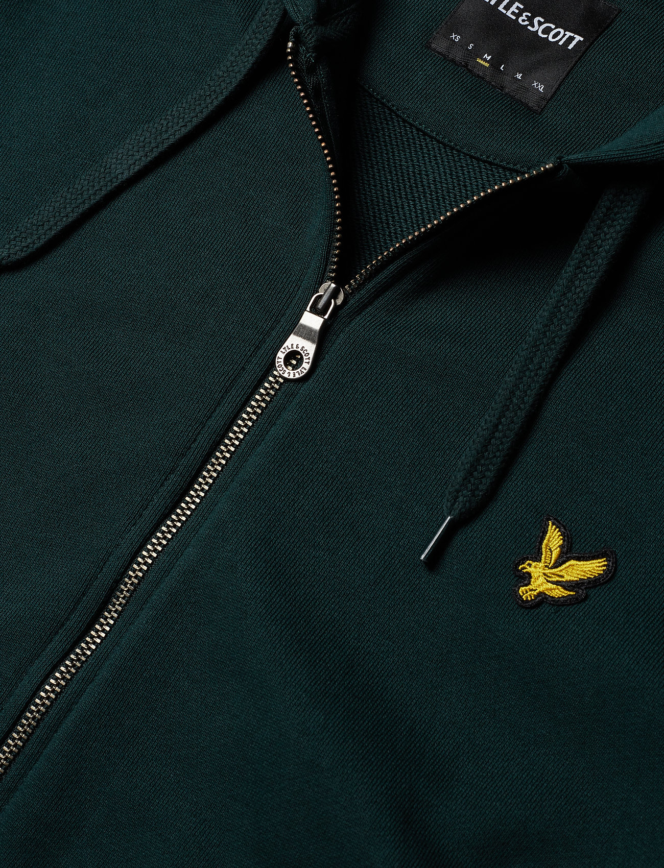 Lyle & Scott Zip Through Hoodie - Sweatshirts JADE GREEN - Menn Klær