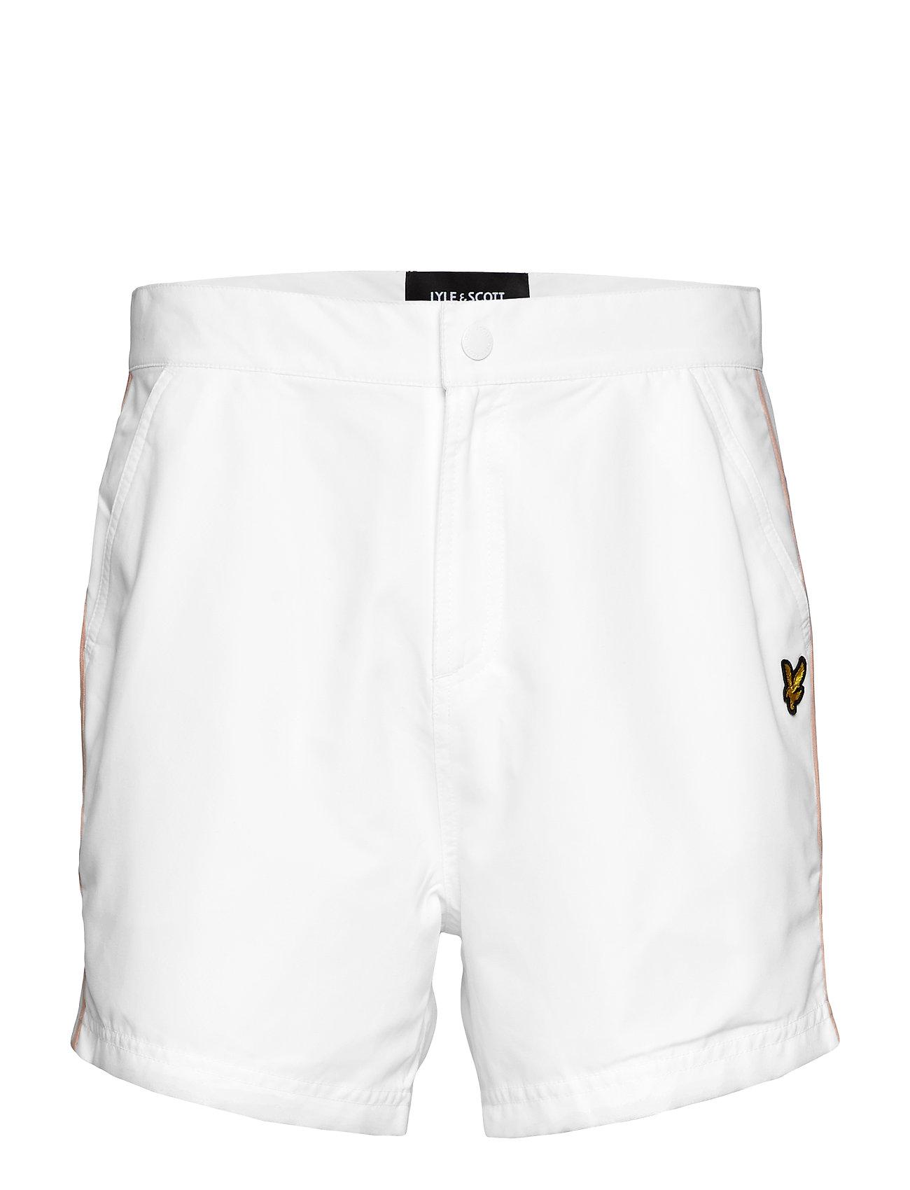 Lyle & Scott Side Stripe Swimshort - WHITE