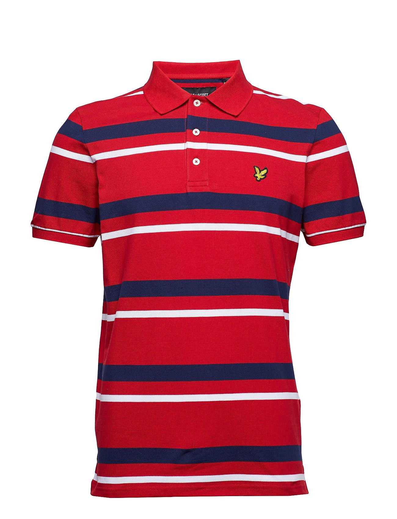 Lyle & Scott Stripe Polo Shirt Ögrönlar
