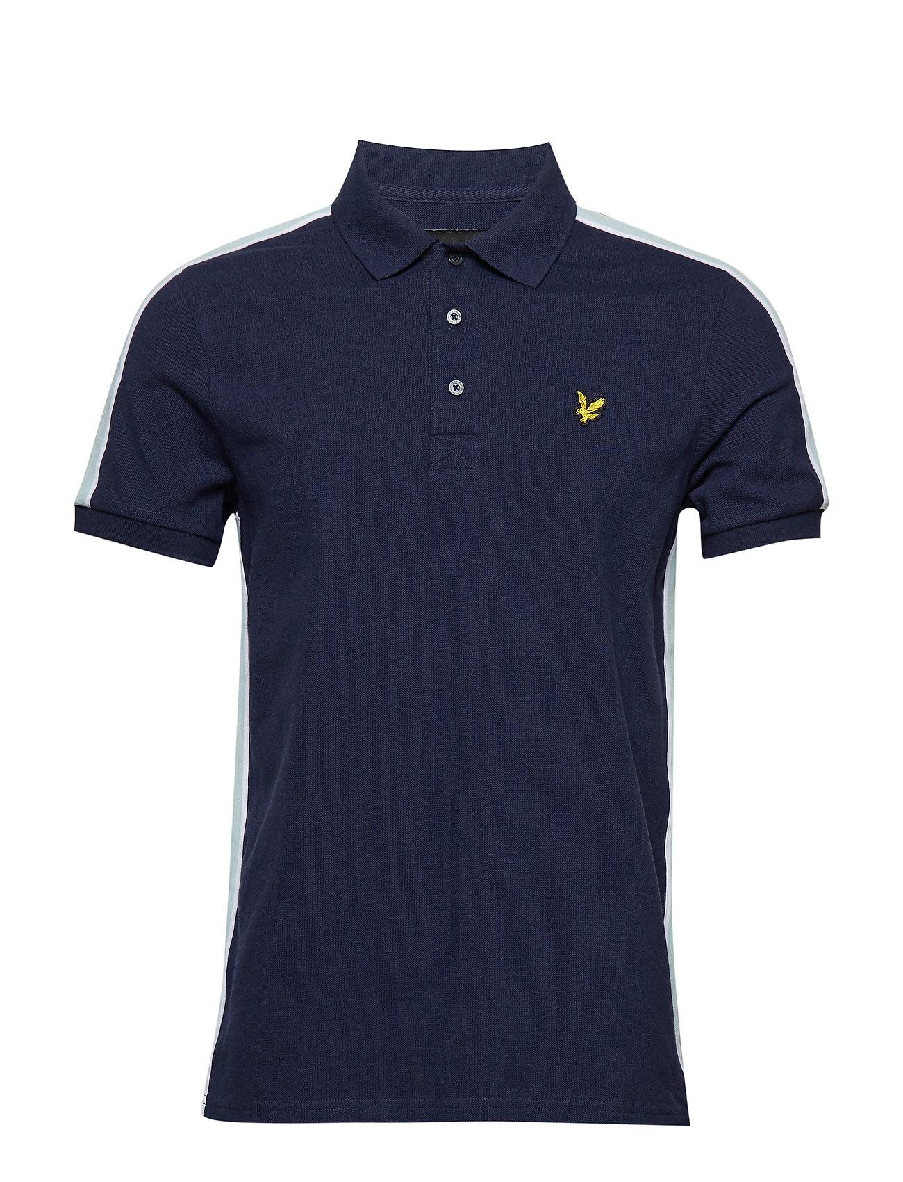 Lyle & Scott Side Stripe Poloshirt - NAVY