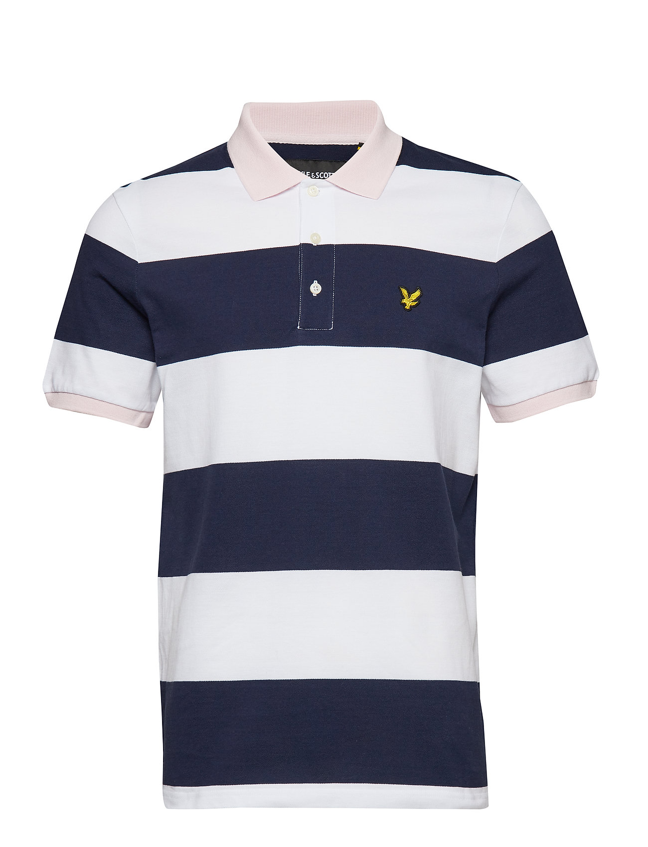 Lyle & Scott Wide Stripe Polo Shirt - NAVY