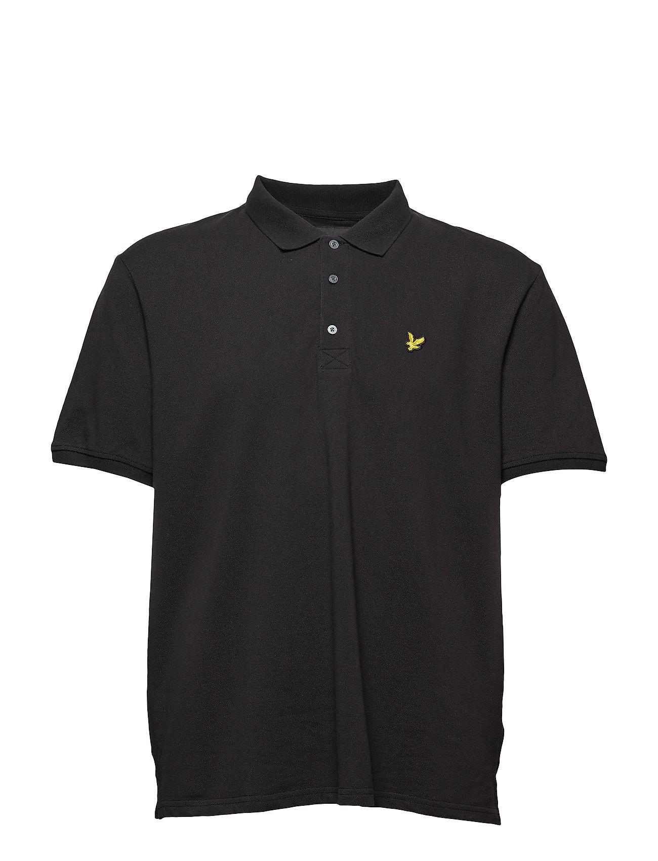 Lyle & Scott Plain Polo Shirt - TRUE BLACK