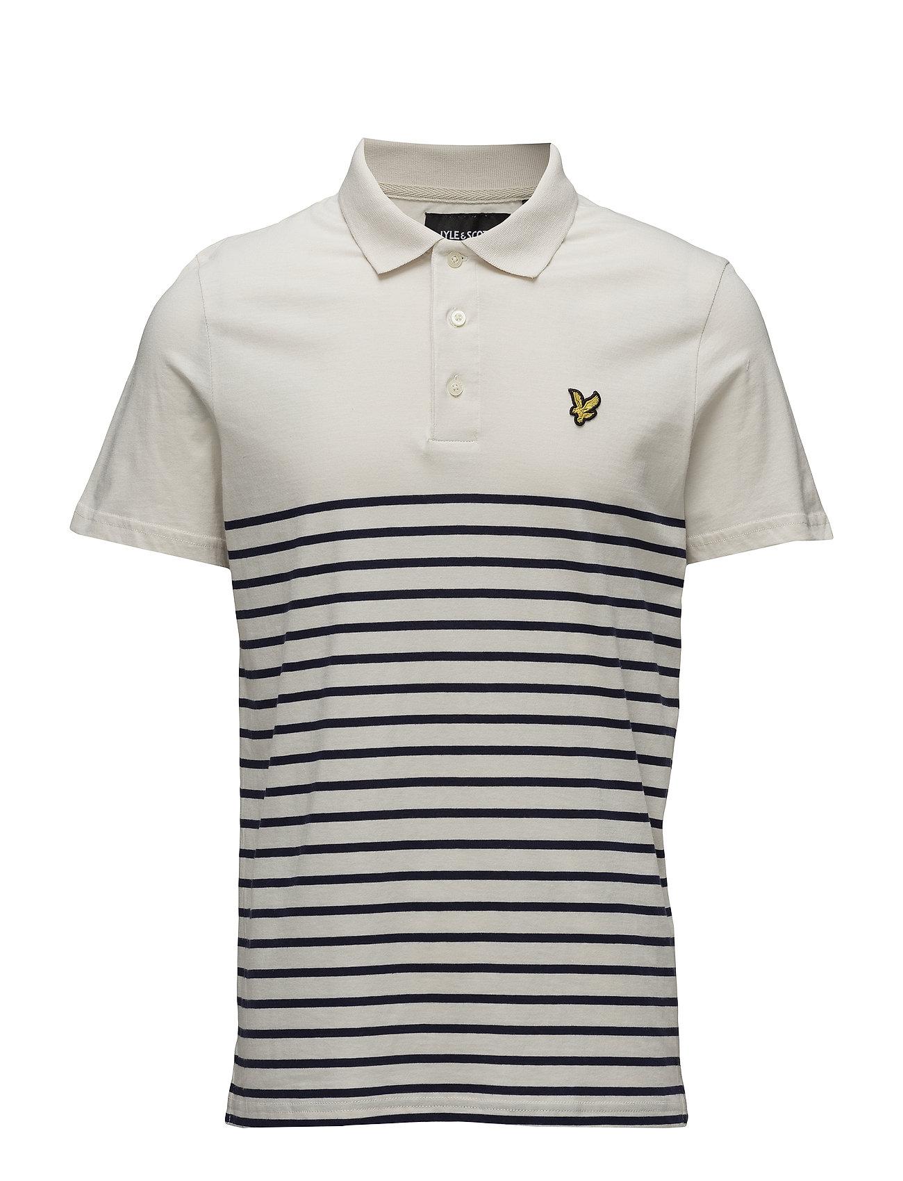 Lyle & Scott Breton Stripe Polo Shirt Ögrönlar
